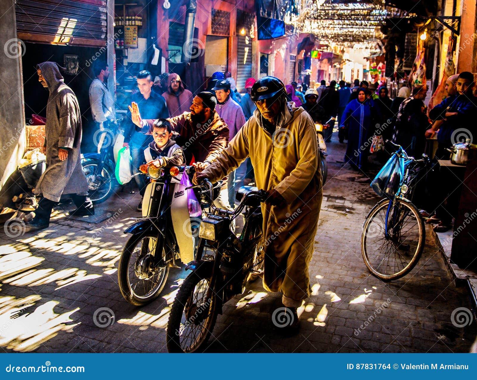 Marché de Souk de Marrakech, Maroc