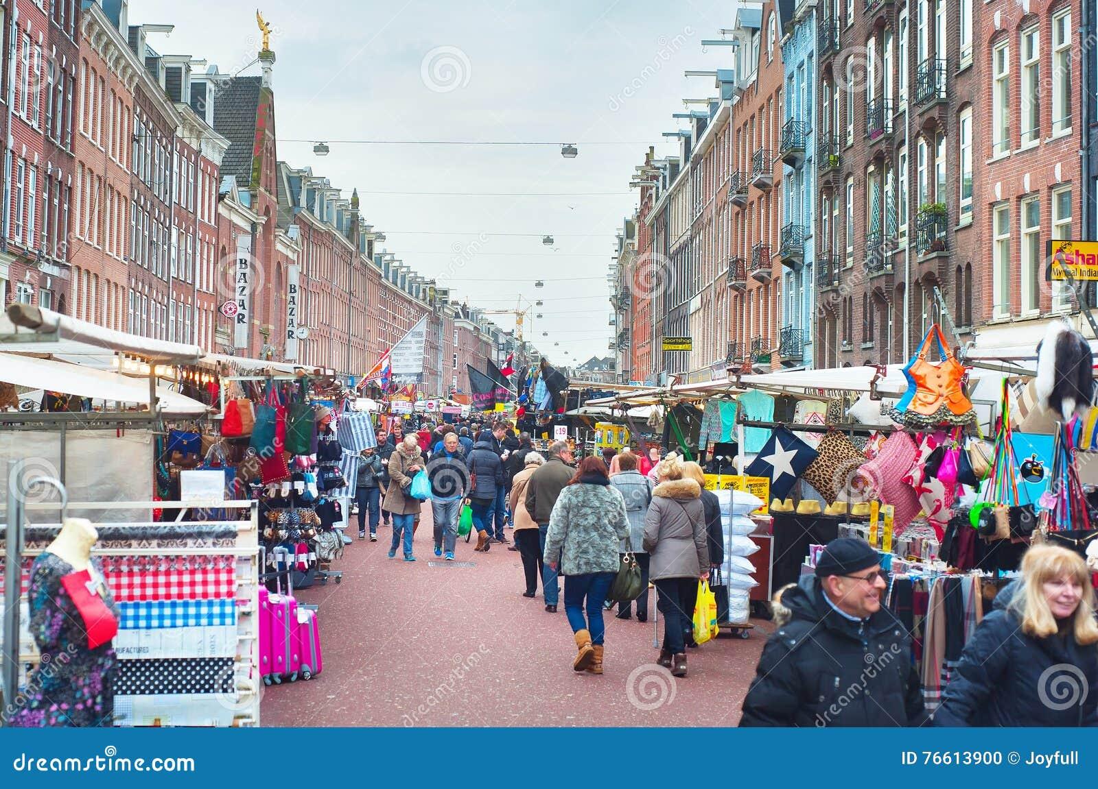 Marché en plein air Amsterdam
