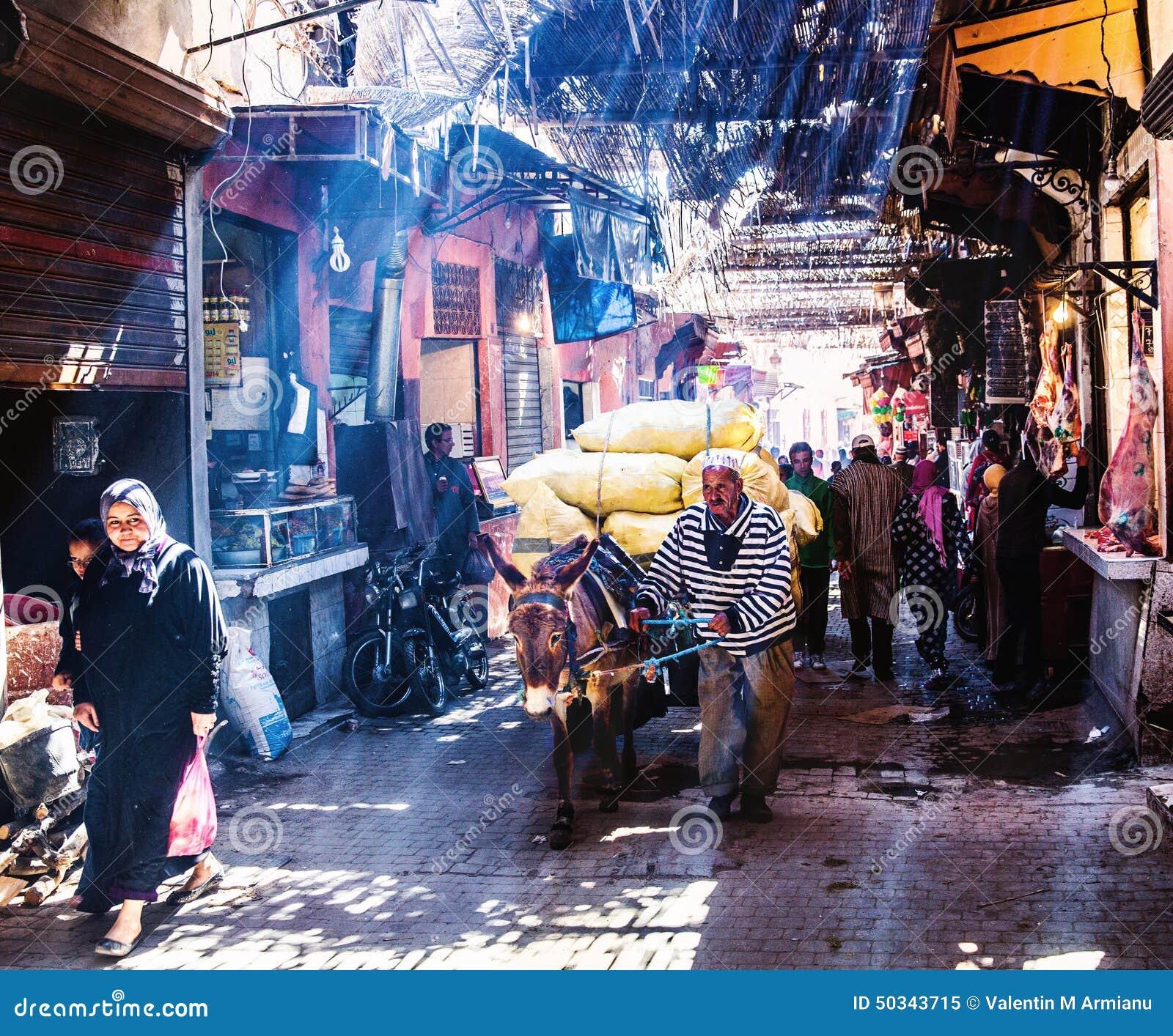 Marché en plein air en Médina Marrakech
