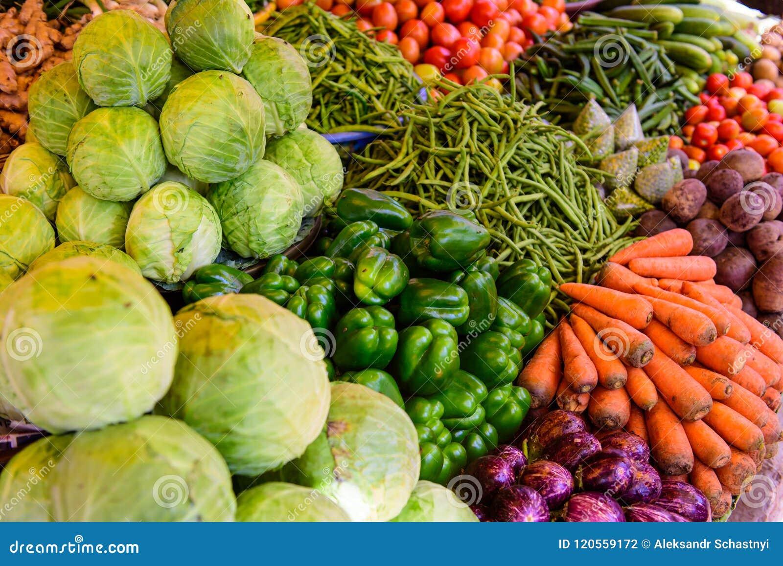 Marché organique de nourriture d agriculteurs Produits sains frais