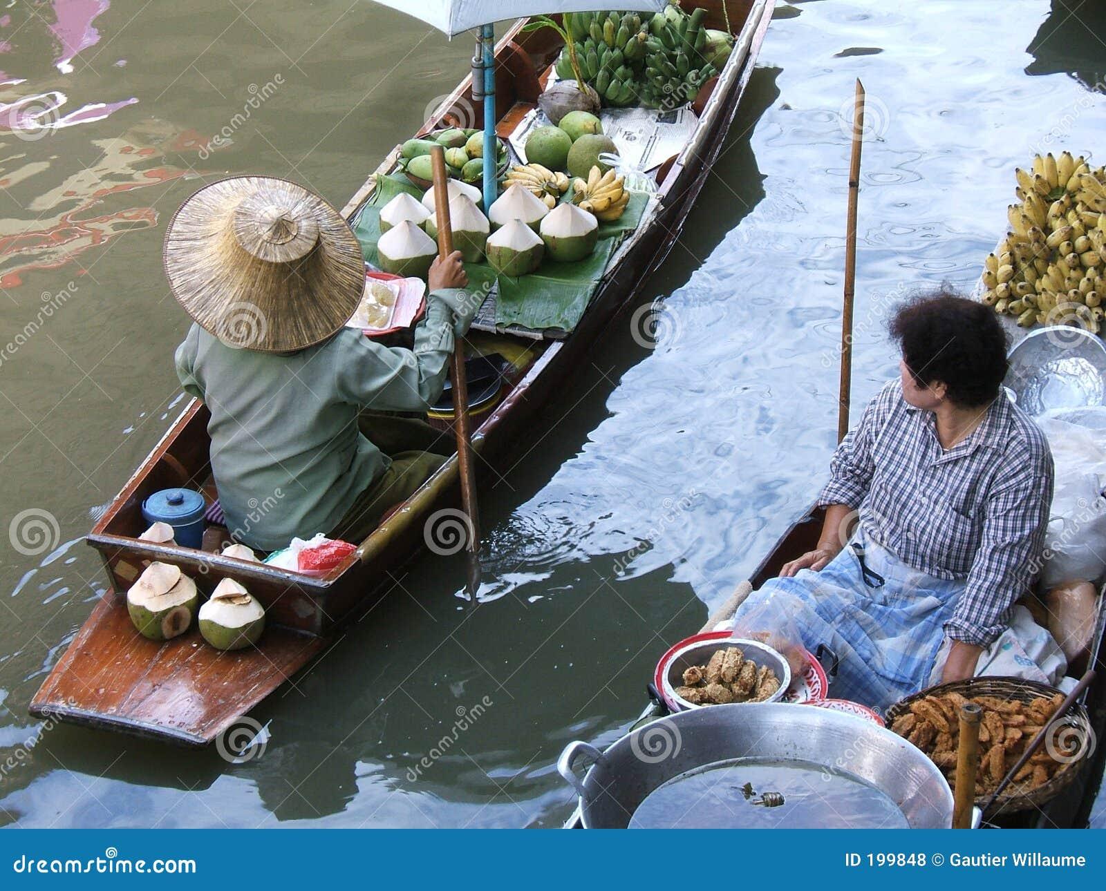 Marché thaï de l eau