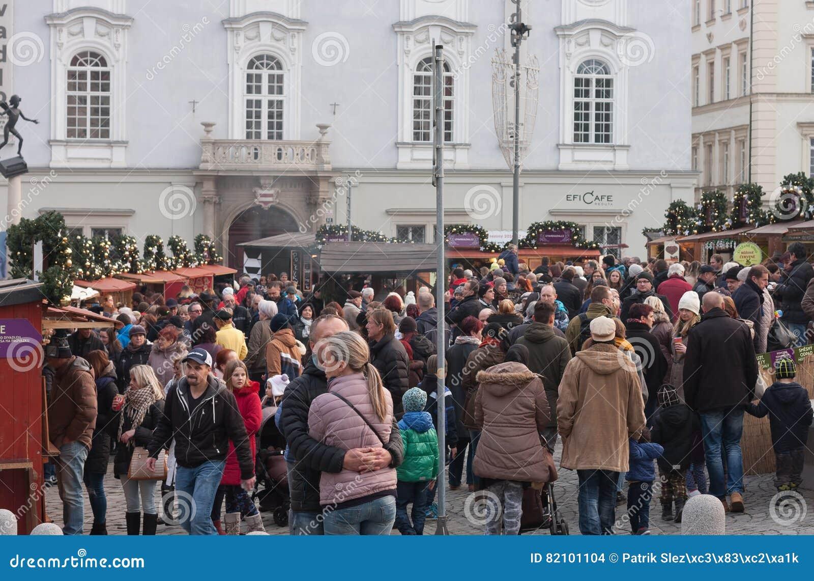 Marchés de Noël sur le marché de chou à Brno