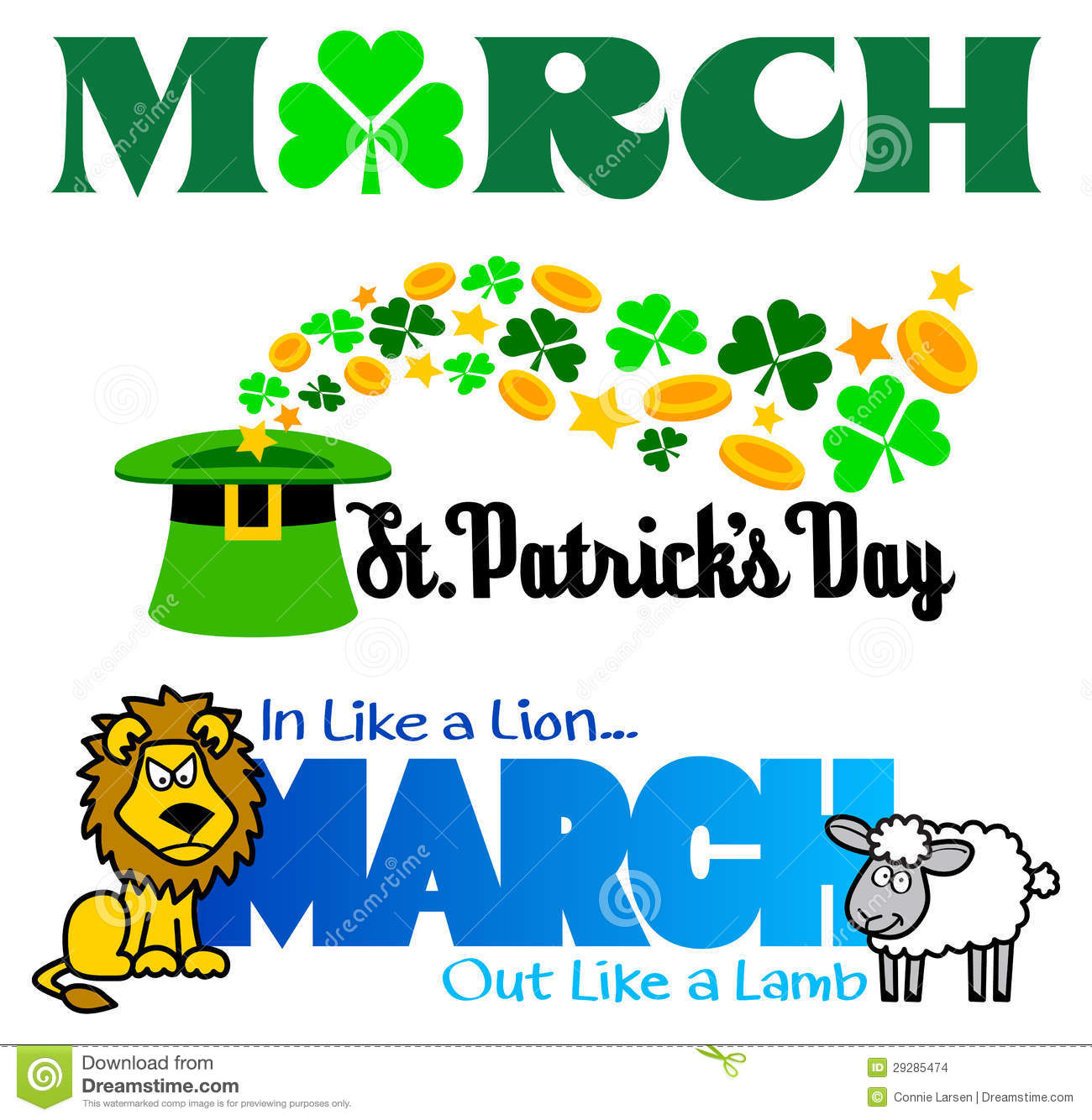 March Events Clip Art Set/eps