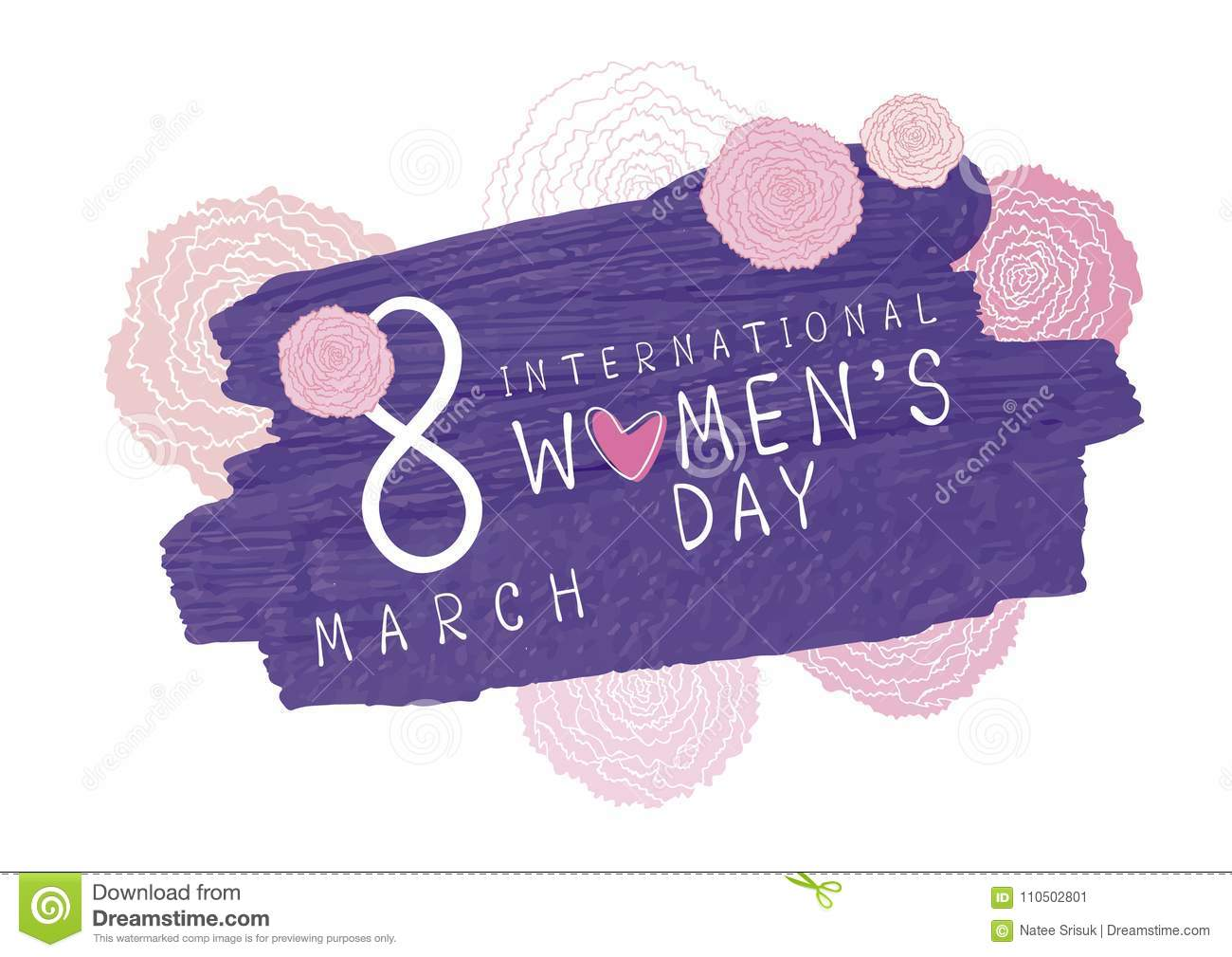 Download 8 March International Womens Day Design Stock Vector - Illustration of holiday, floral: 110502801