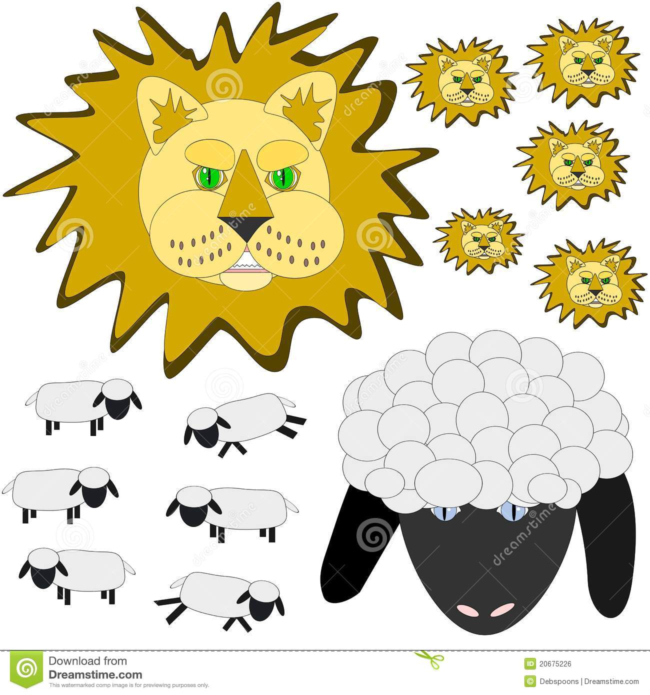 March Lion And Lamb Stock Vector Illustration Of Illustration