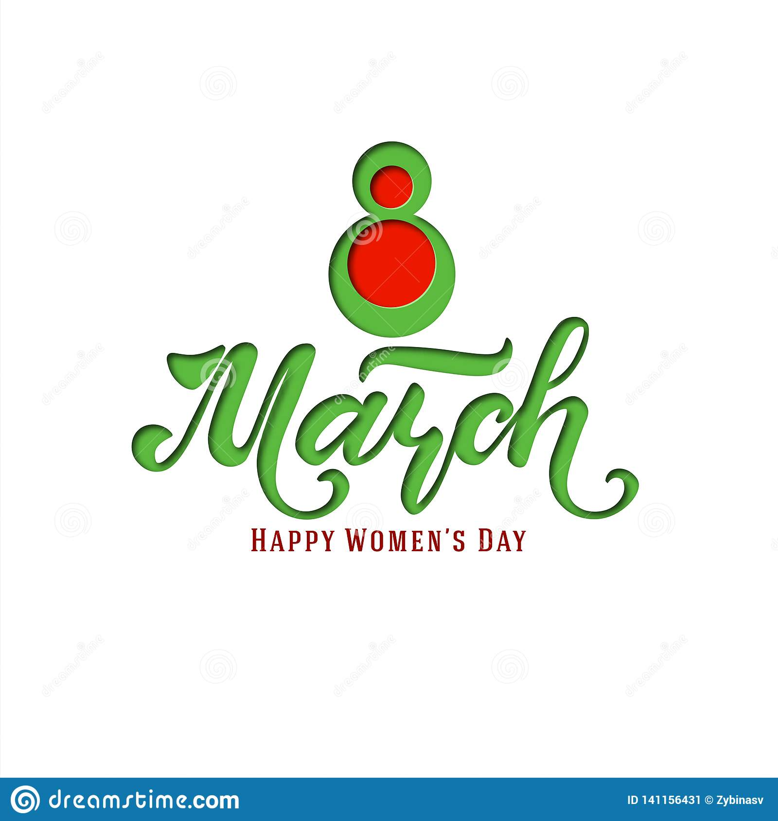 March 8. Postcard. Women`s Day. Paper cut holiday background. Lettering. Trendy design template. Happy mother`s day. Vector