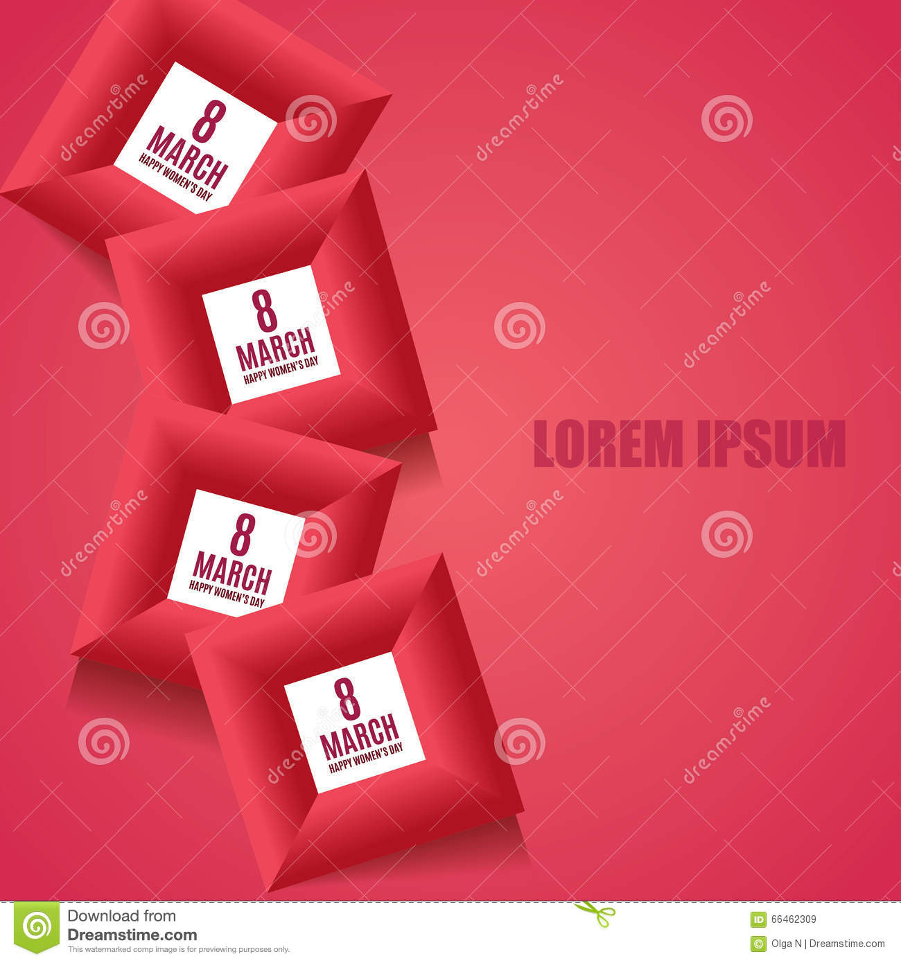 8 march women u0026 39 s day background template in red colors