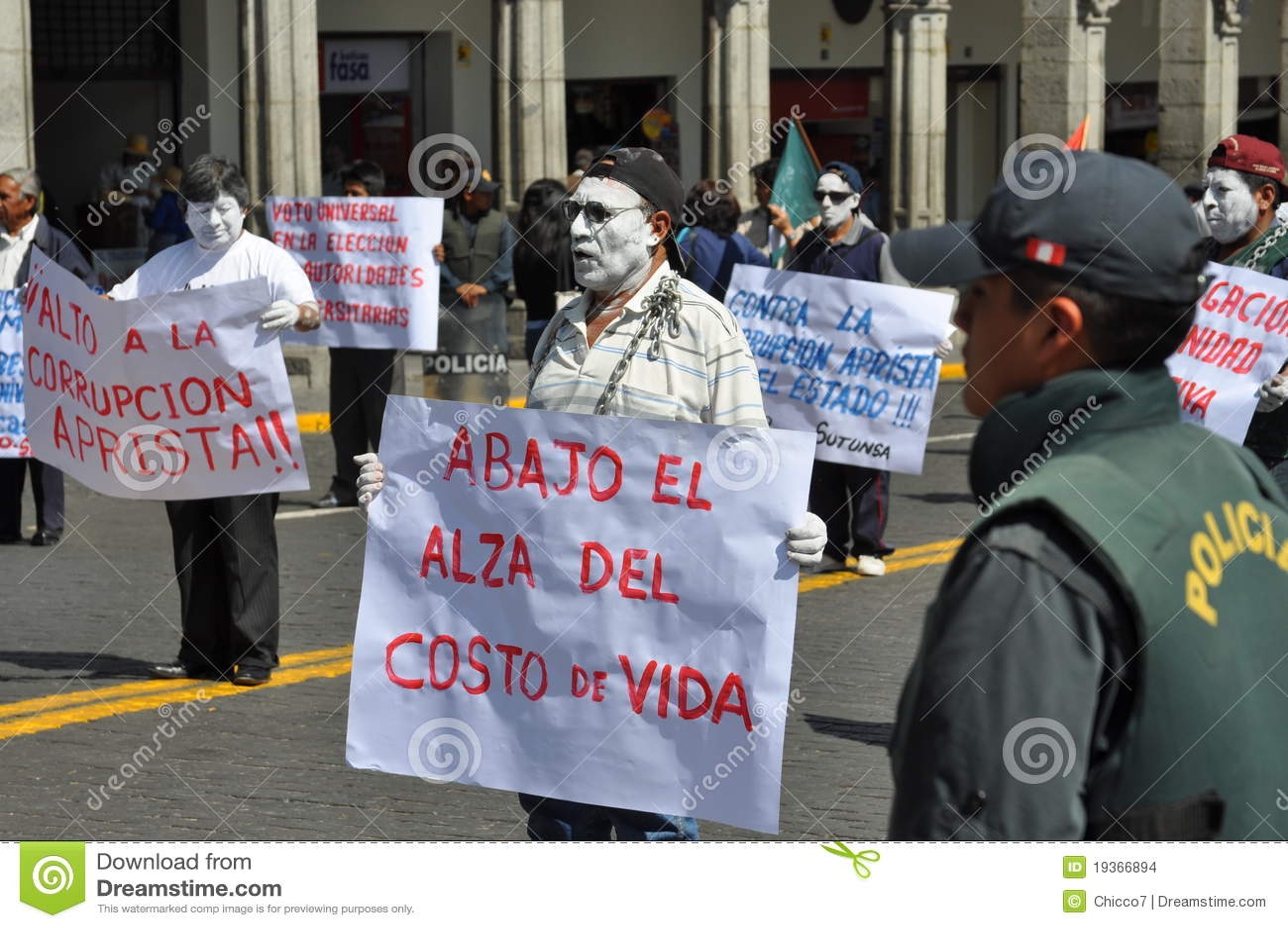 Marcha de protesto em Arequipa, Peru