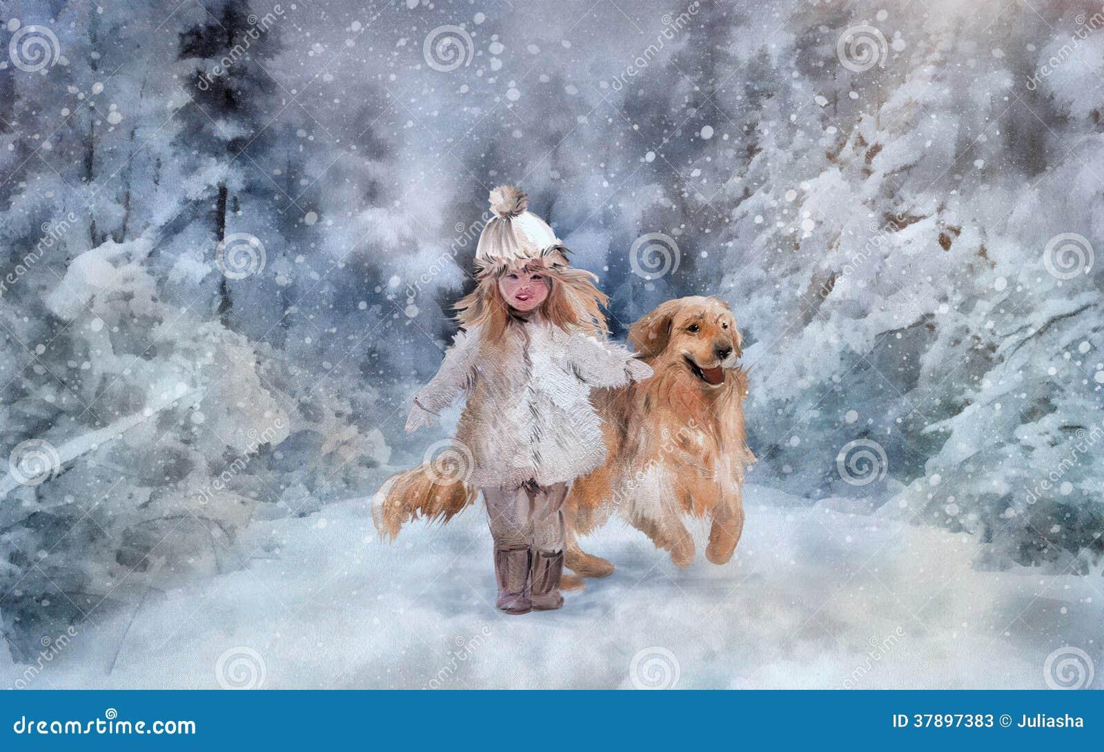 Marche en parc d hiver