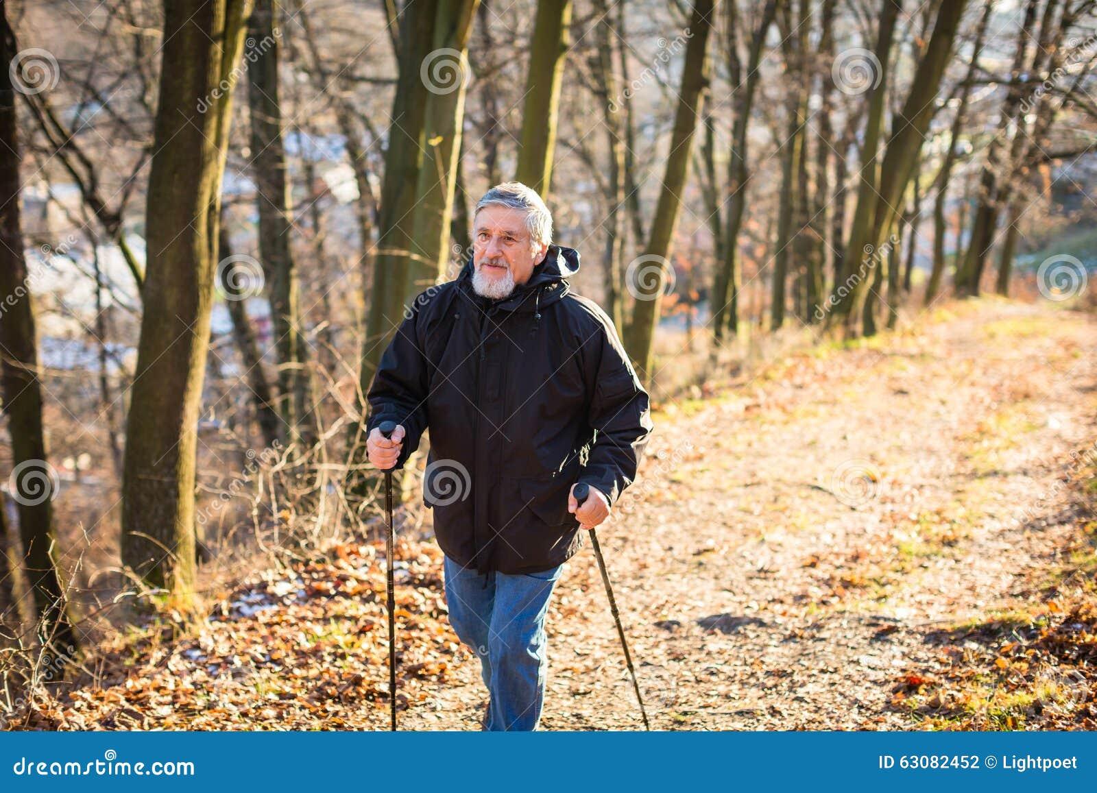 Download Marche Nordique D'homme Aîné Photo stock - Image du mâle, exercice: 63082452