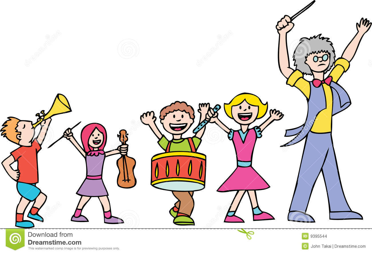 Cartoon Marching Band Cartoon Marching Band Clip Art