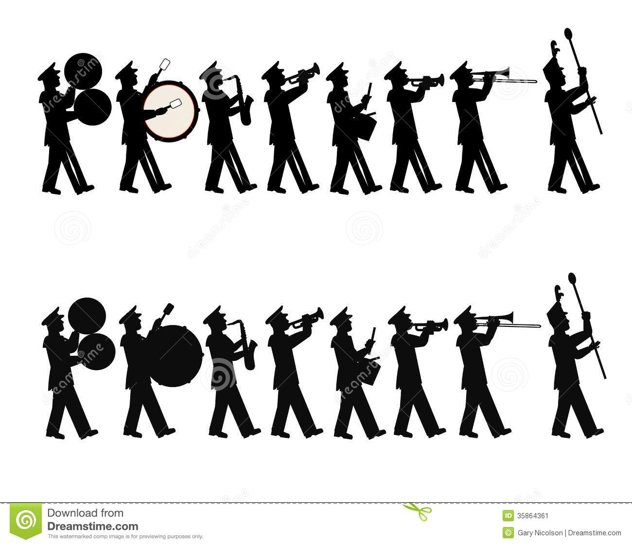 Marching Band Clipart Clarinet Marching band