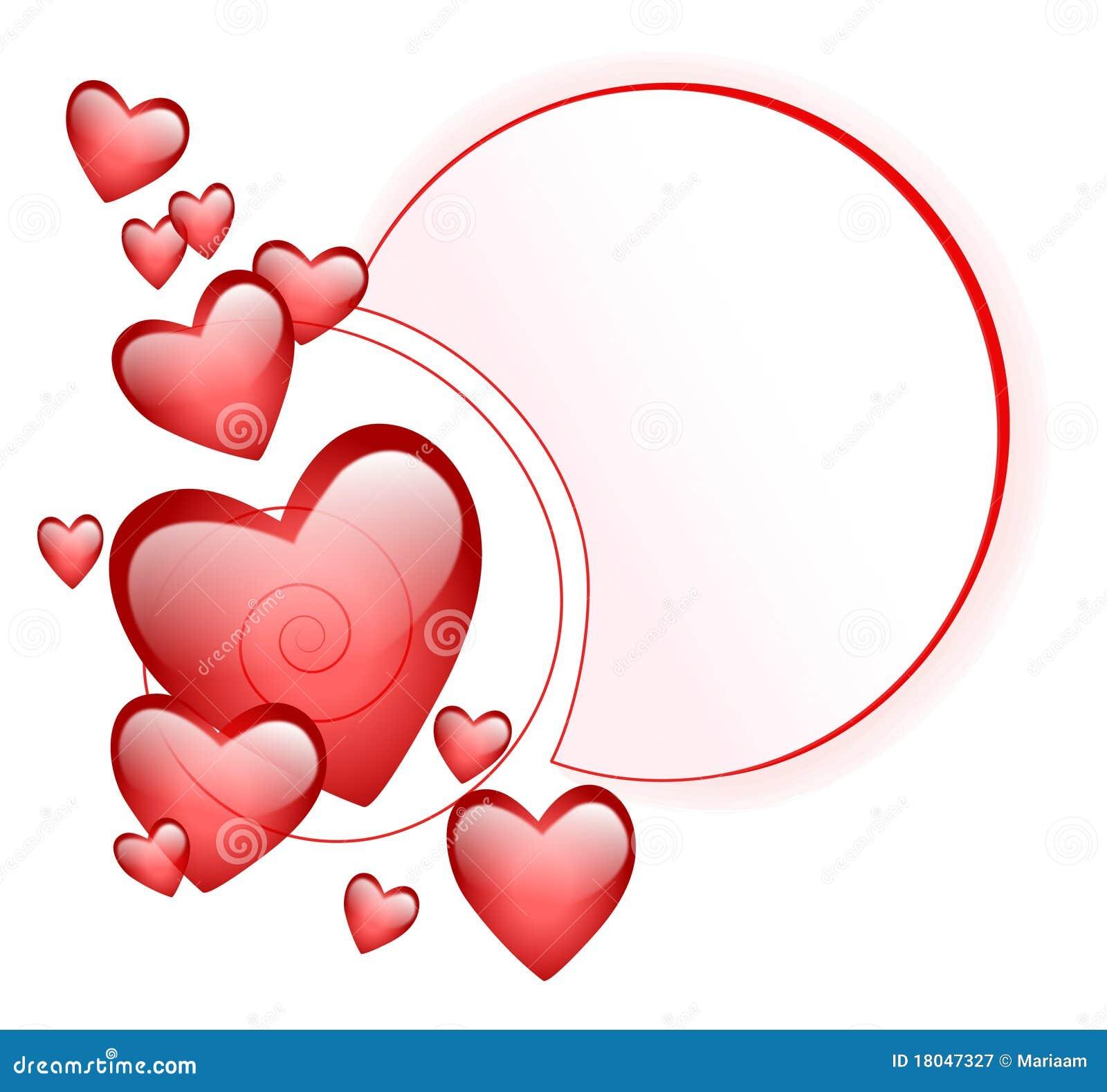 Marco abstracto con los corazones dimensionales fotograf a - Marcos de corazones para fotos ...
