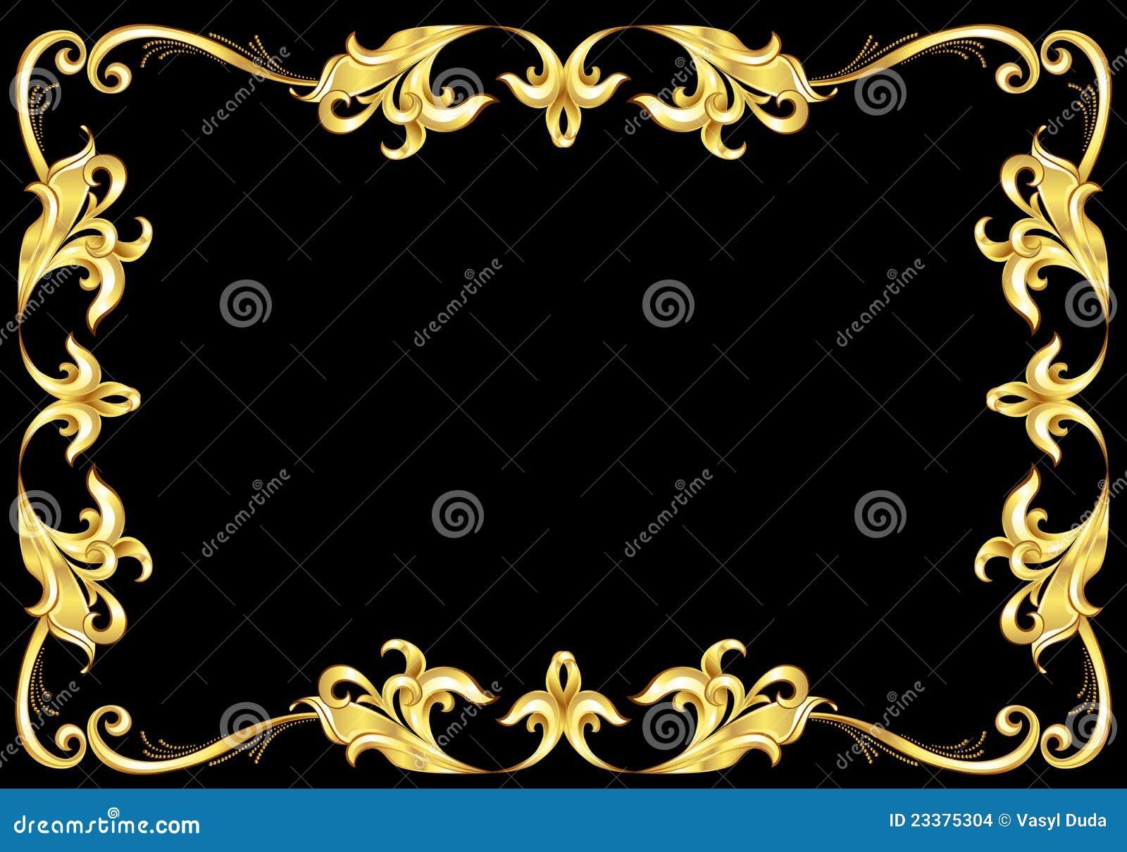 Marco abstracto del oro.
