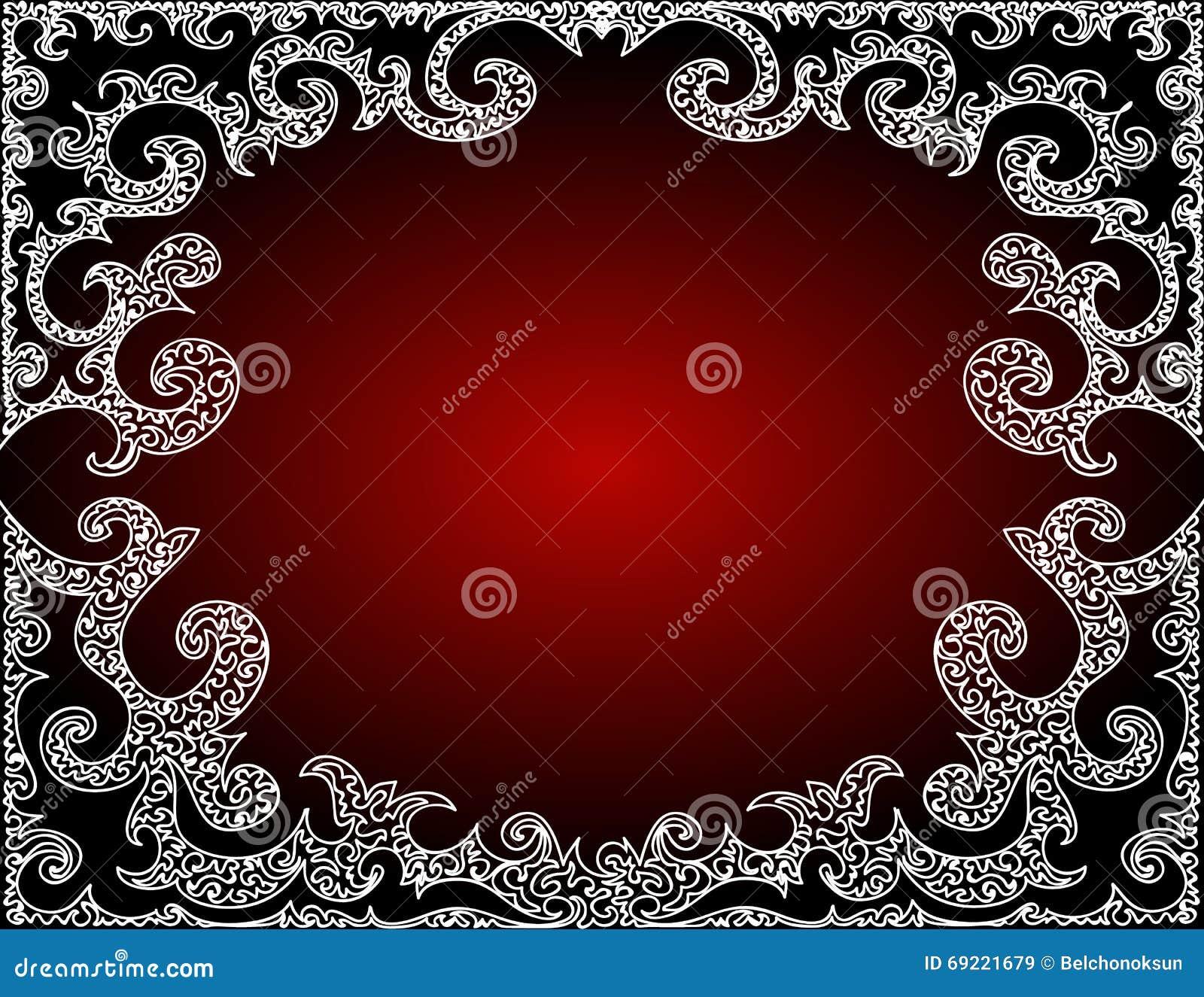Marco abstracto hermoso del rojo del vector