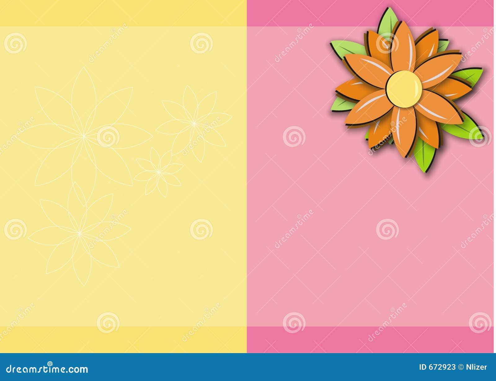 Marco amarillo-naranja rosado del fondo de la margarita
