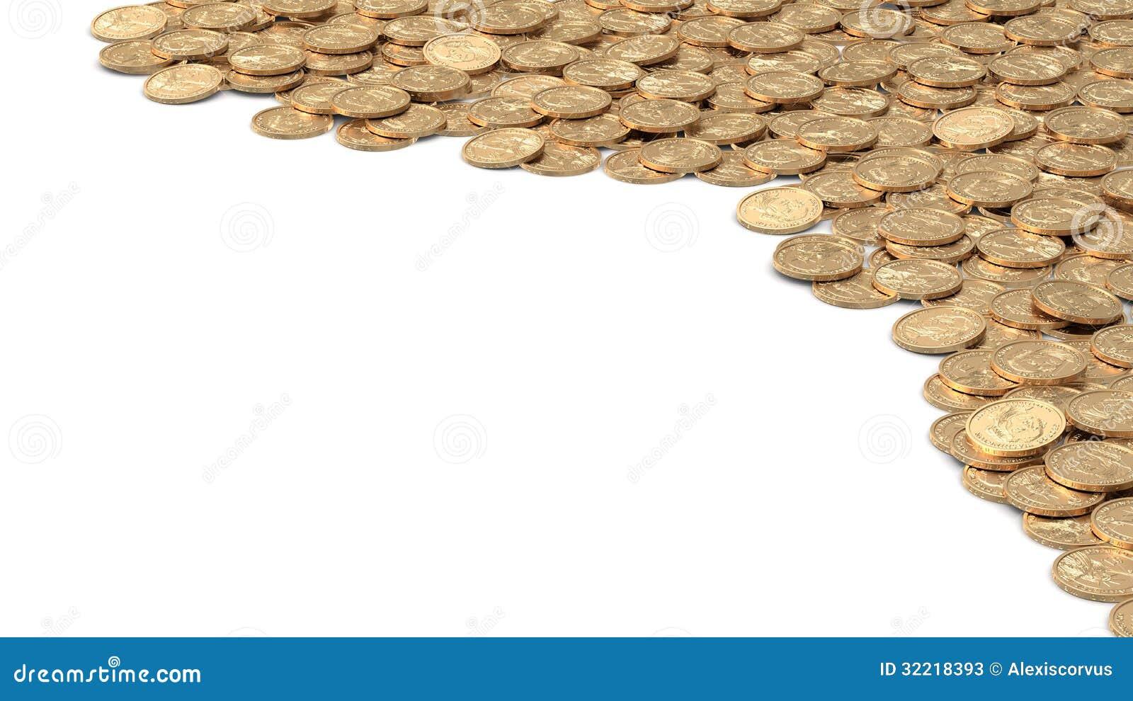 Marco Angular Con Las Monedas De Oro Stock de ilustración ...