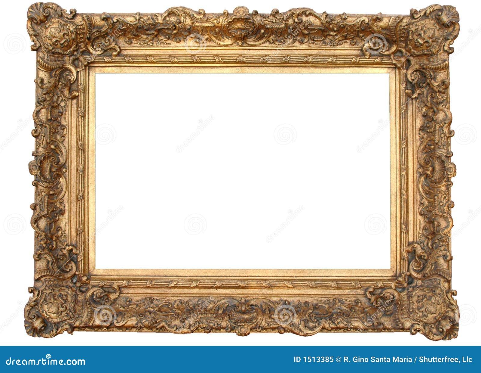 Marco antiguo foto de archivo libre de regal as imagen for Marco cuadro antiguo