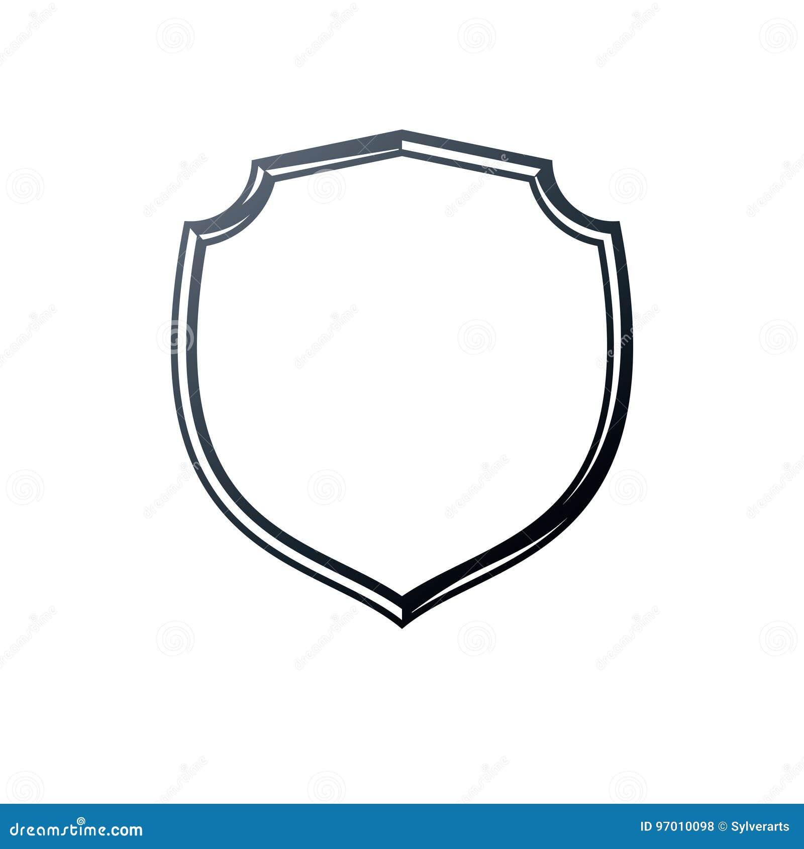 Marco Antiguo Con El Copia-espacio, El Escudo De La Seguridad Del ...