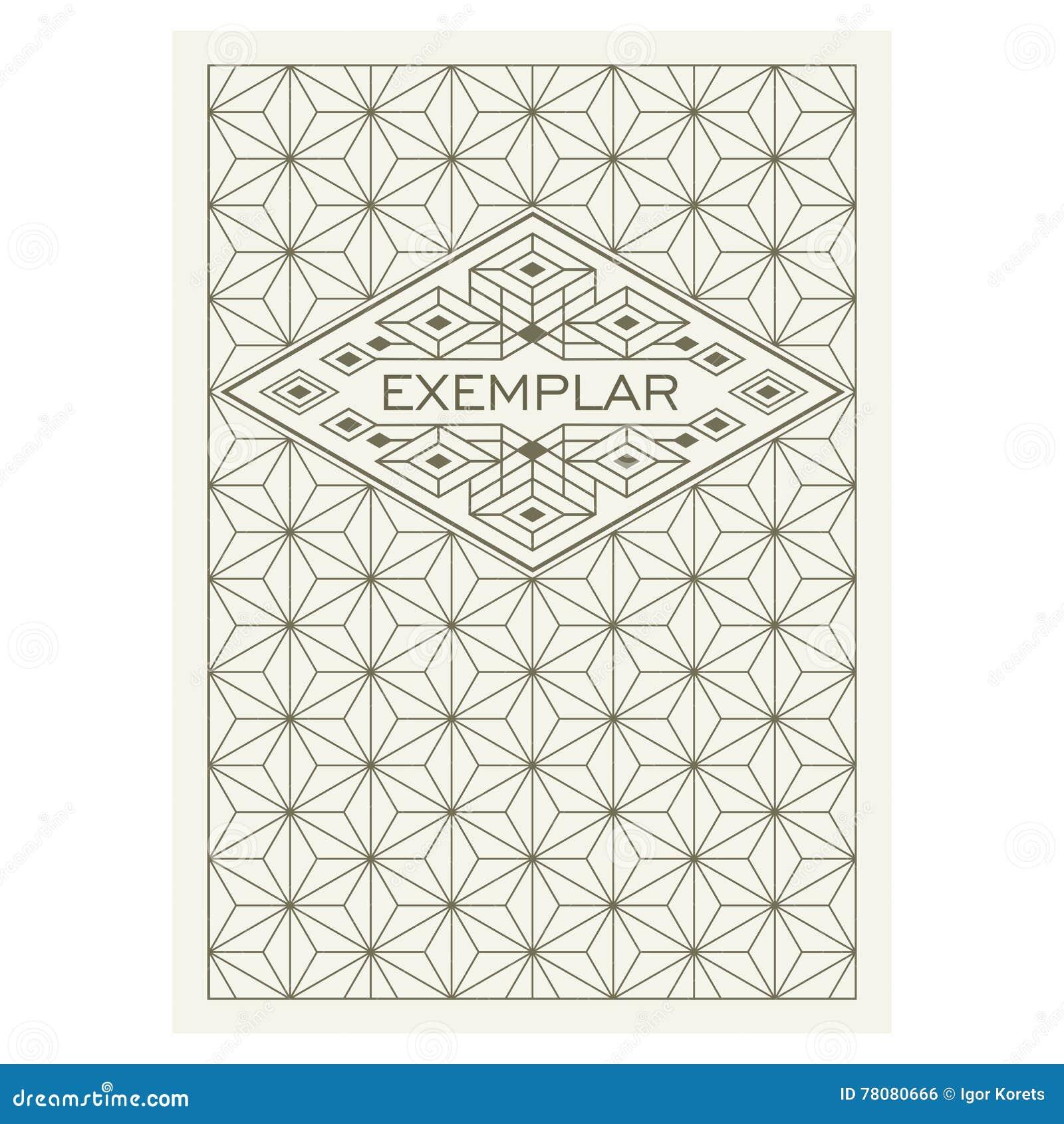 Marco antiguo de lujo de Art Deco Flourishes del vintage Plantilla ornamental del vector de la tarjeta de felicitación Cubierta d