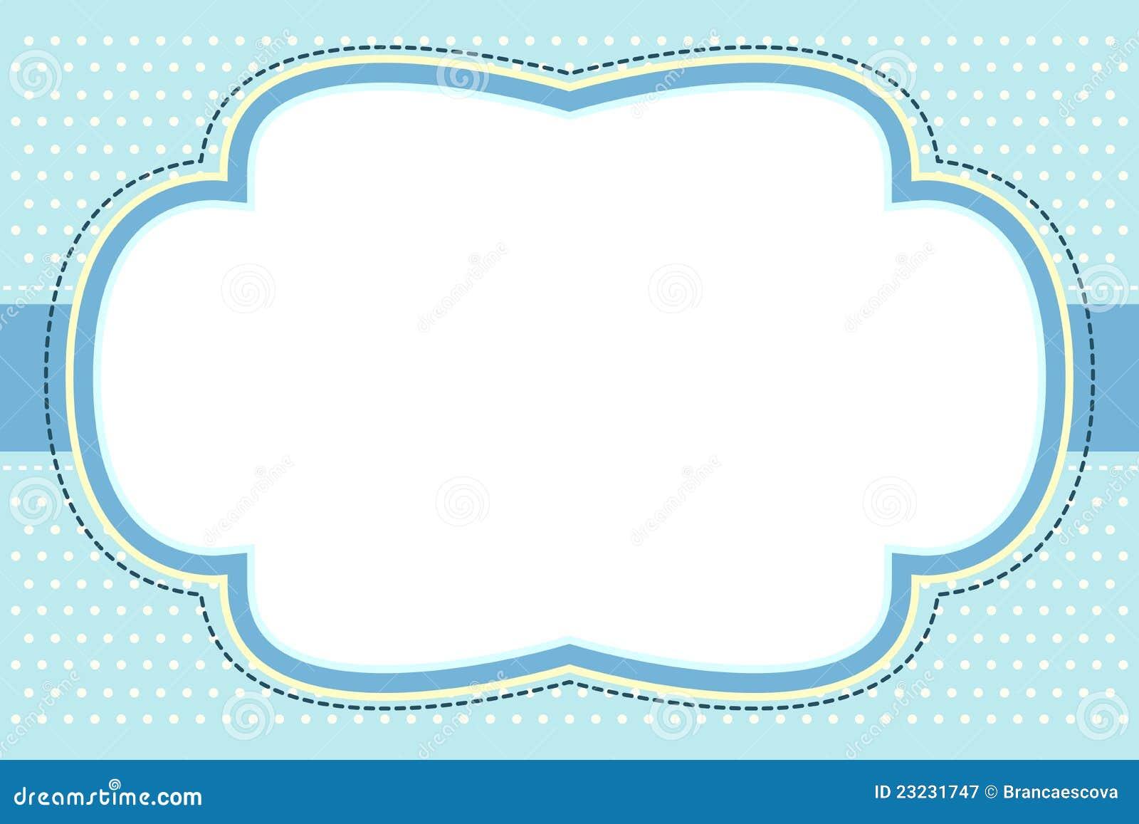 Marco Azul Adornado De La Burbuja Ilustración del Vector ...