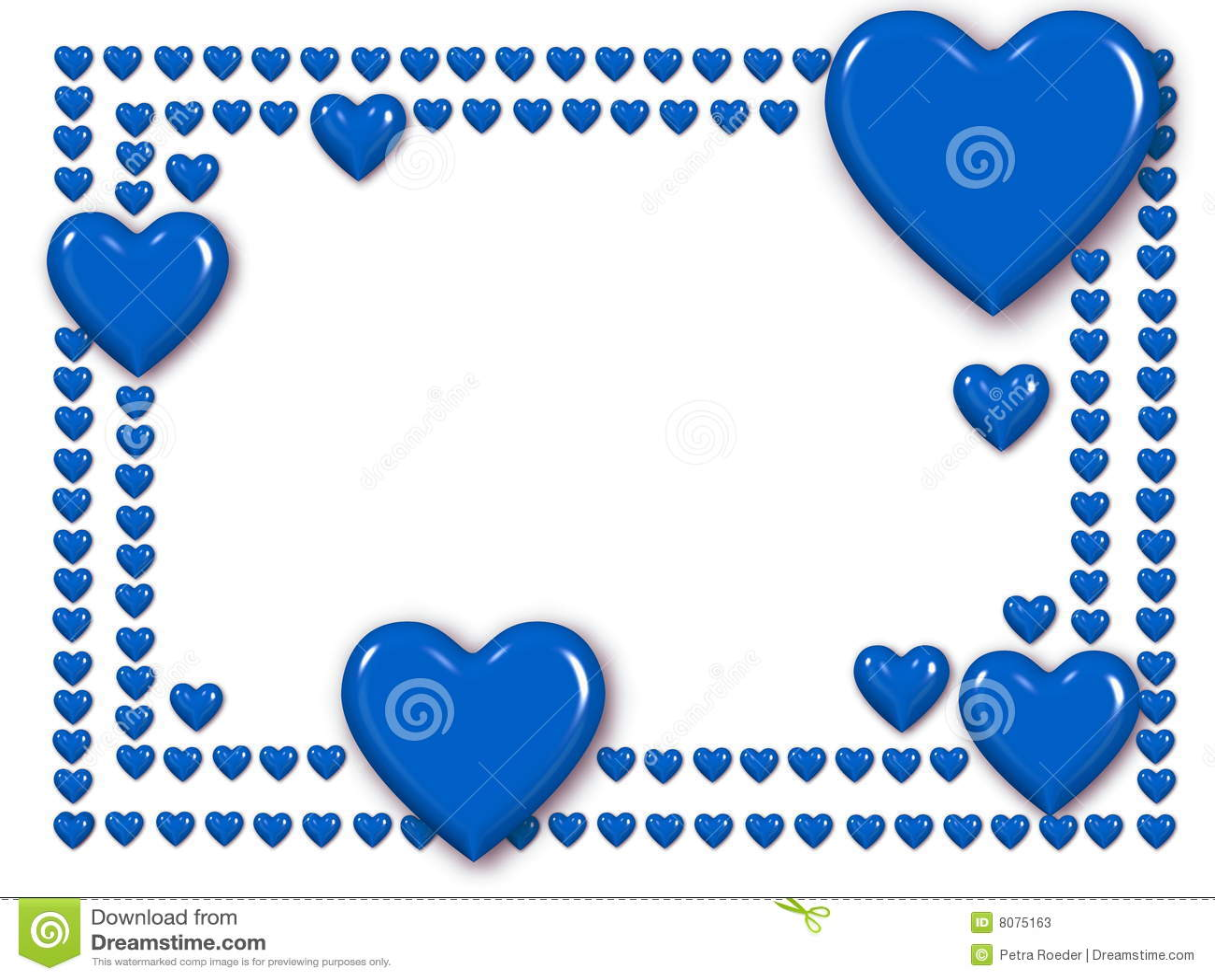 Corazones azules de amor images - Marcos de corazones para fotos ...