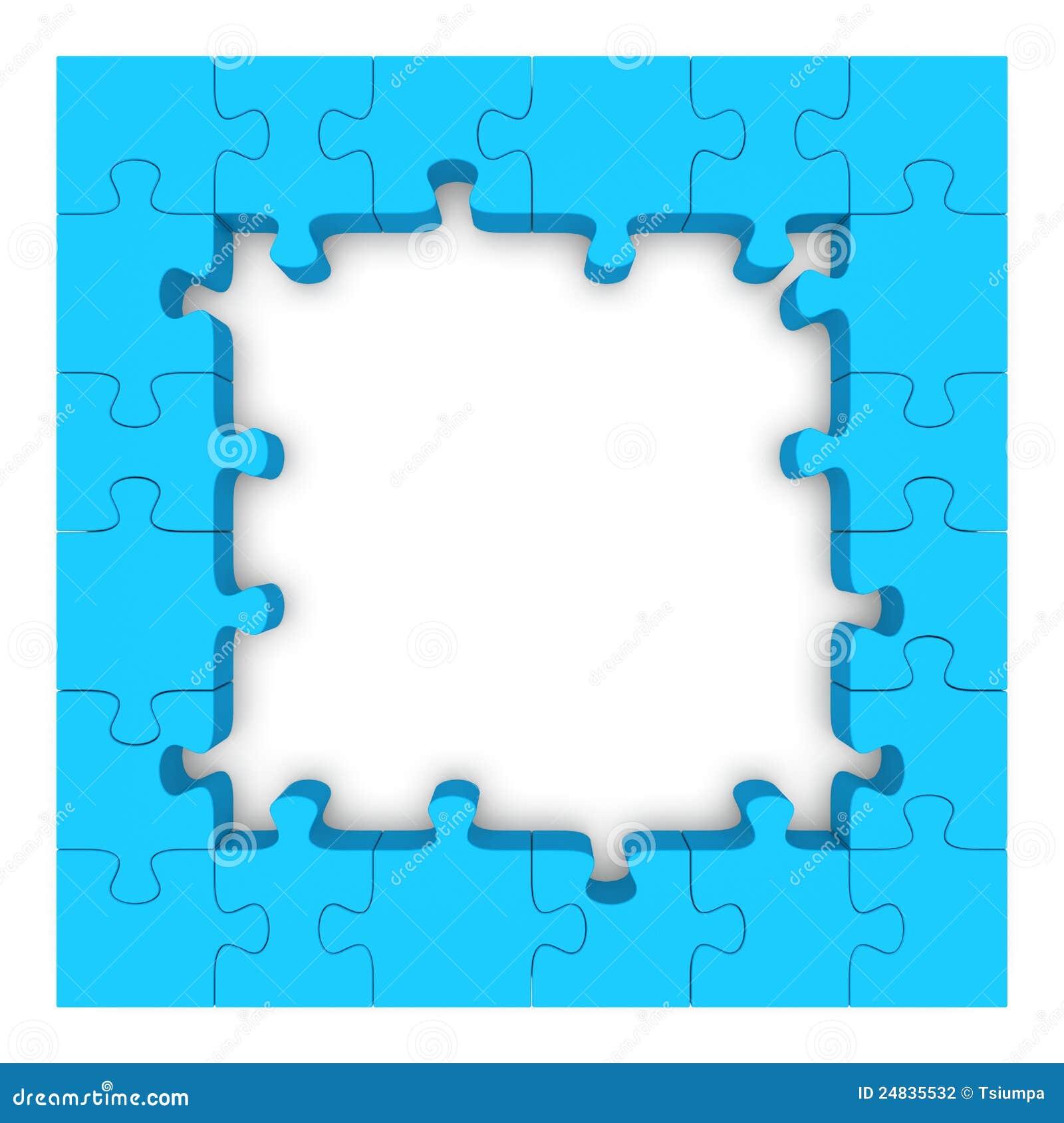 Marco Azul Del Rompecabezas. Stock de ilustración - Ilustración de ...