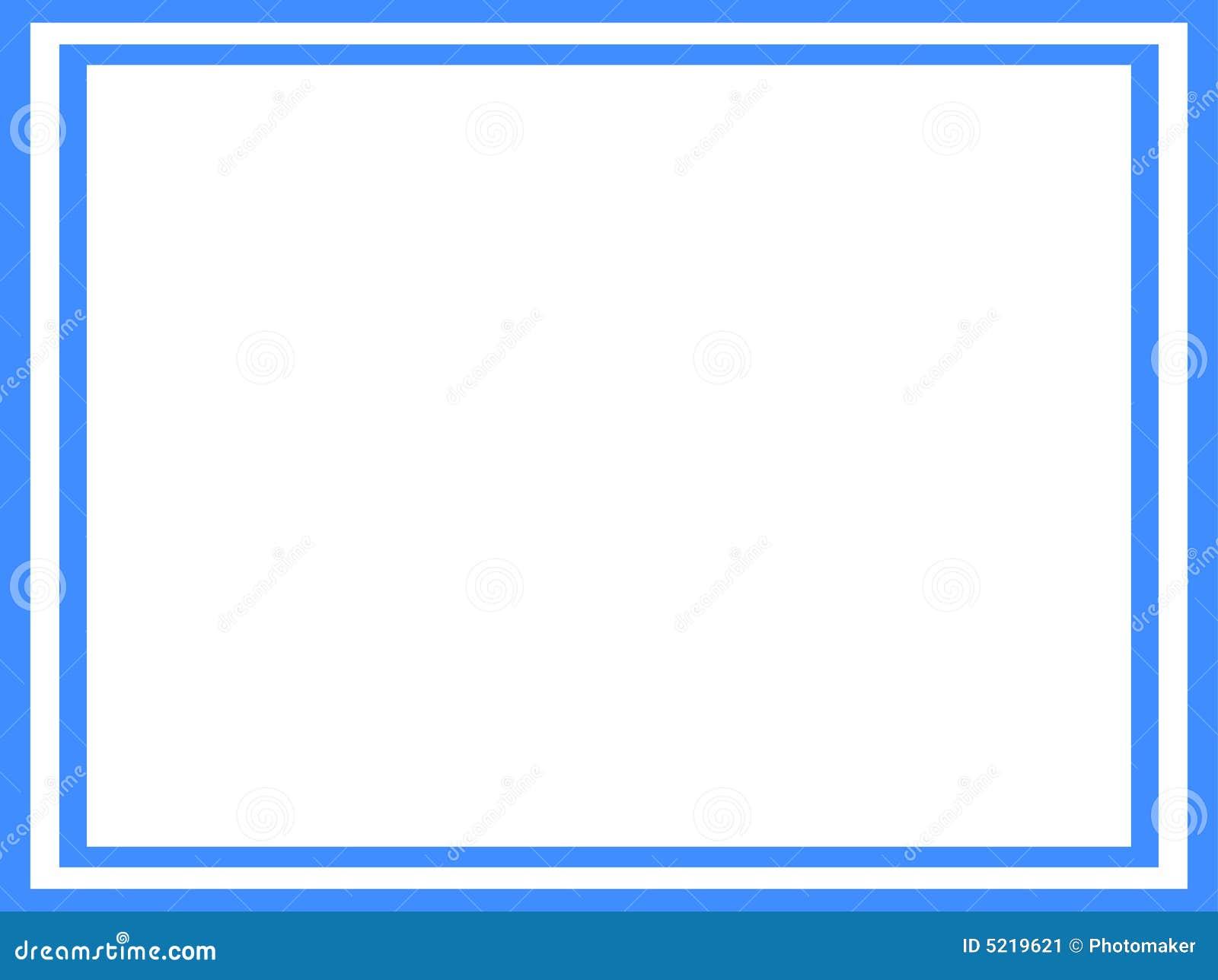 Marco azul y blanco ilustración del vector. Ilustración de blanco ...