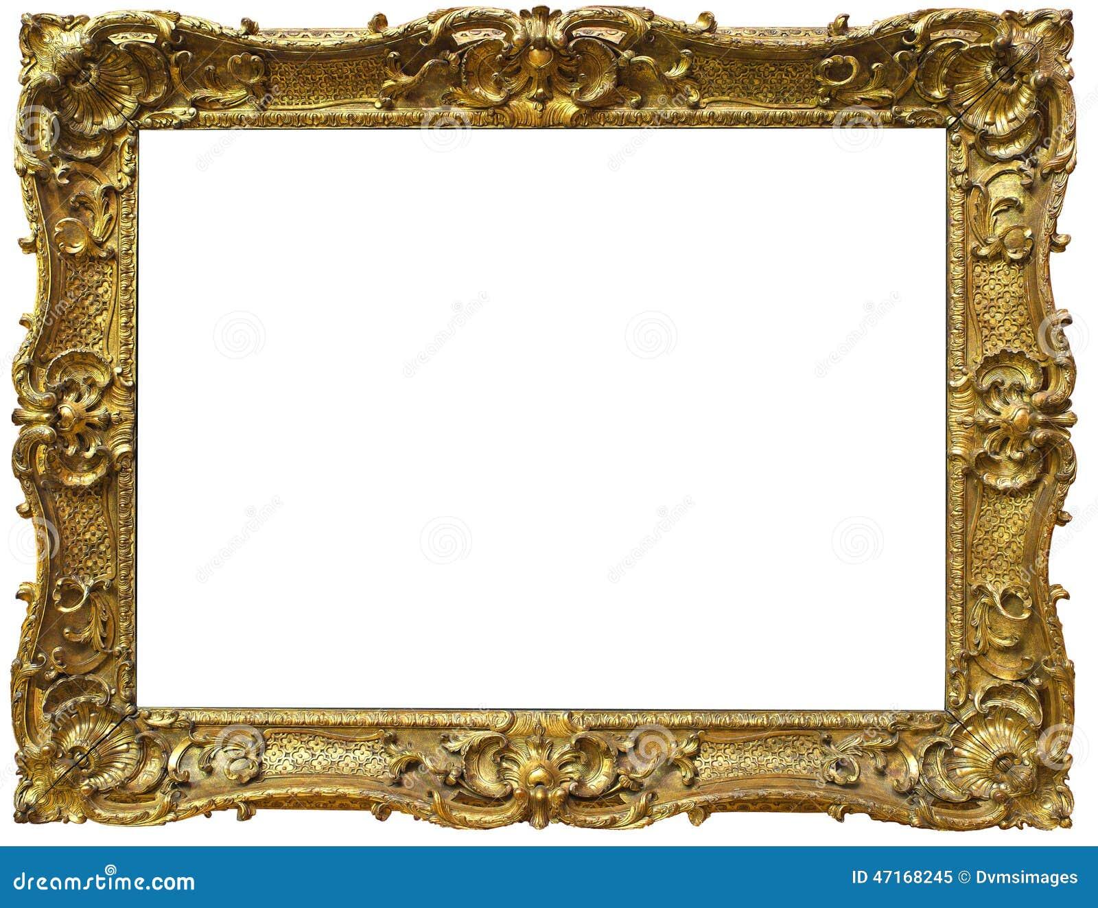 Marco Barroco Adornado Del Oro Imagen de archivo - Imagen de fondo ...