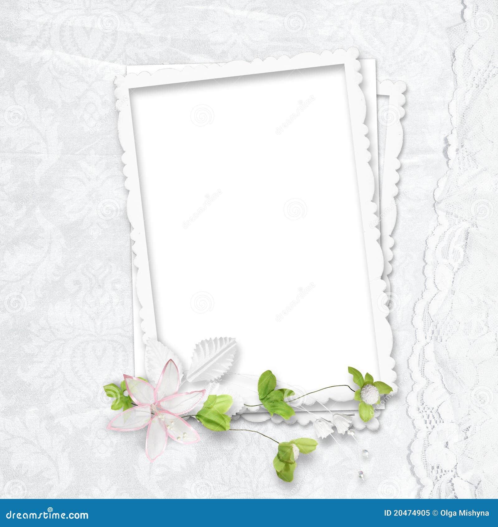 Marco blanco delicado foto de archivo libre de regal as - Marcos para fotos economicos ...