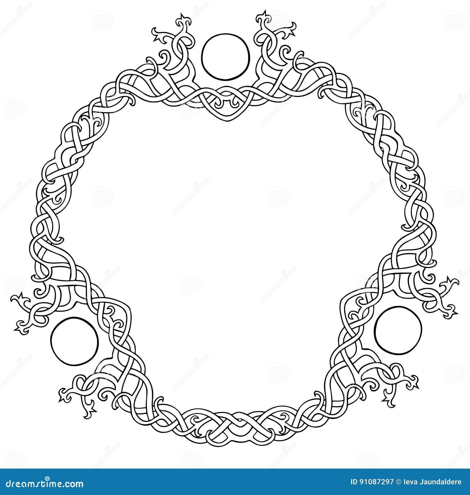 Marco céltico del círculo del nudo