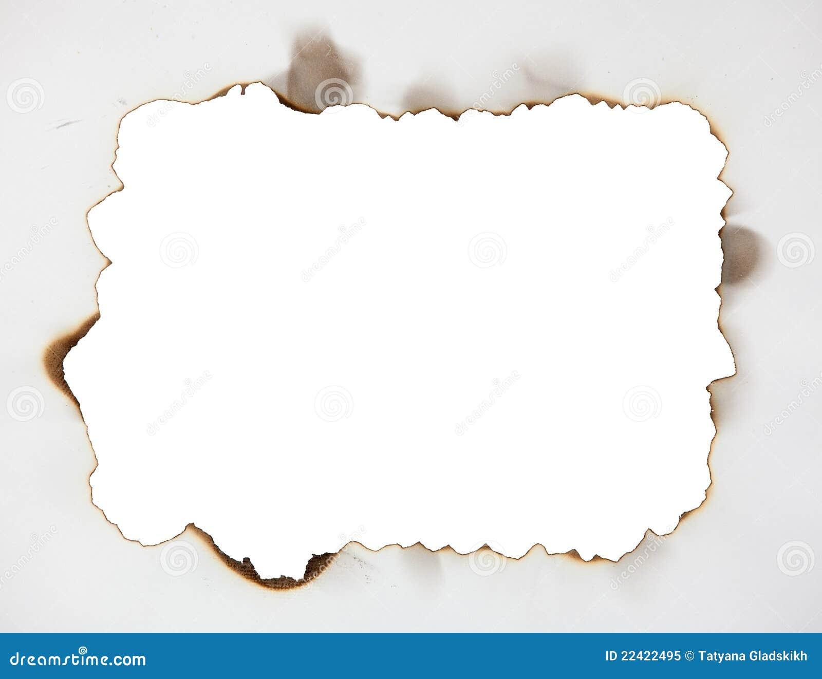 Marco chamuscado en el papel