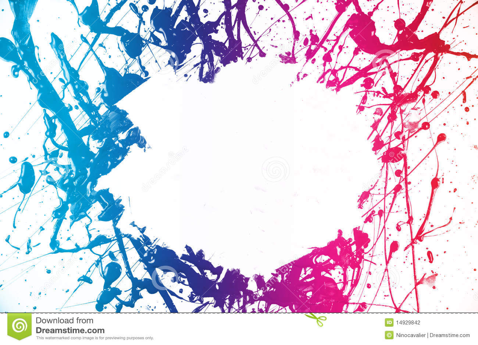 marco colorido de la pintura foto de archivo imagen
