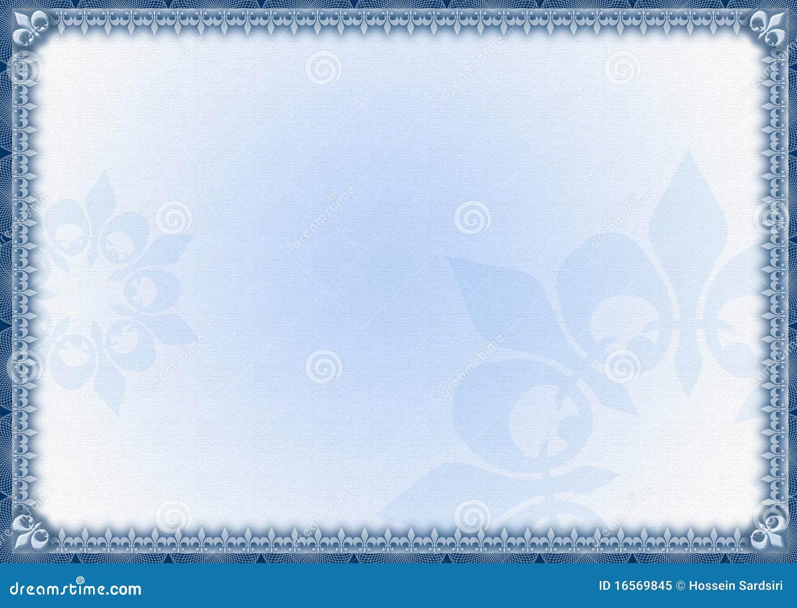 Elegant Blue Certificate Border