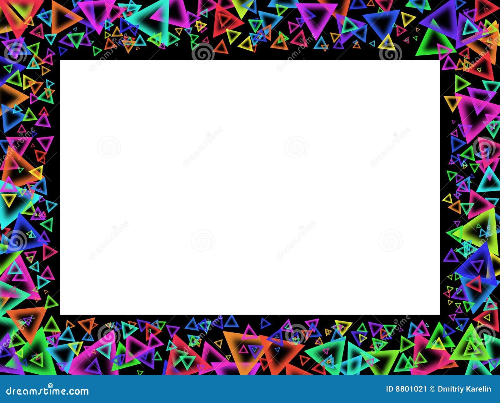 Marco con las figuras geom tricas del color imagen de - Marco de fotos multiple ...