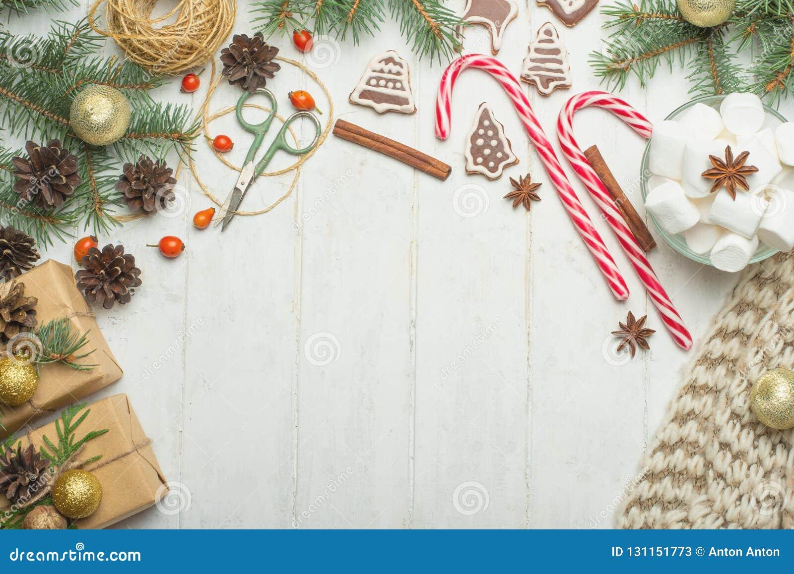 Marcos Para Fotos De Arbol De Navidad.Marco Con Las Galletas Del Pan De Jengibre Arbol De Navidad
