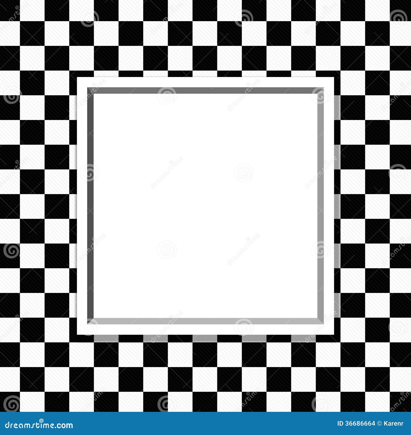 marco a cuadros blanco y negro con el fondo del marco foto