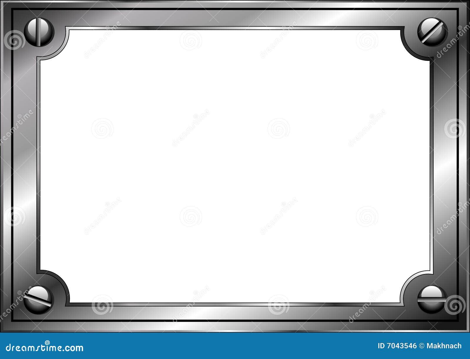 Marco de acero ilustración del vector. Ilustración de moderno - 7043546