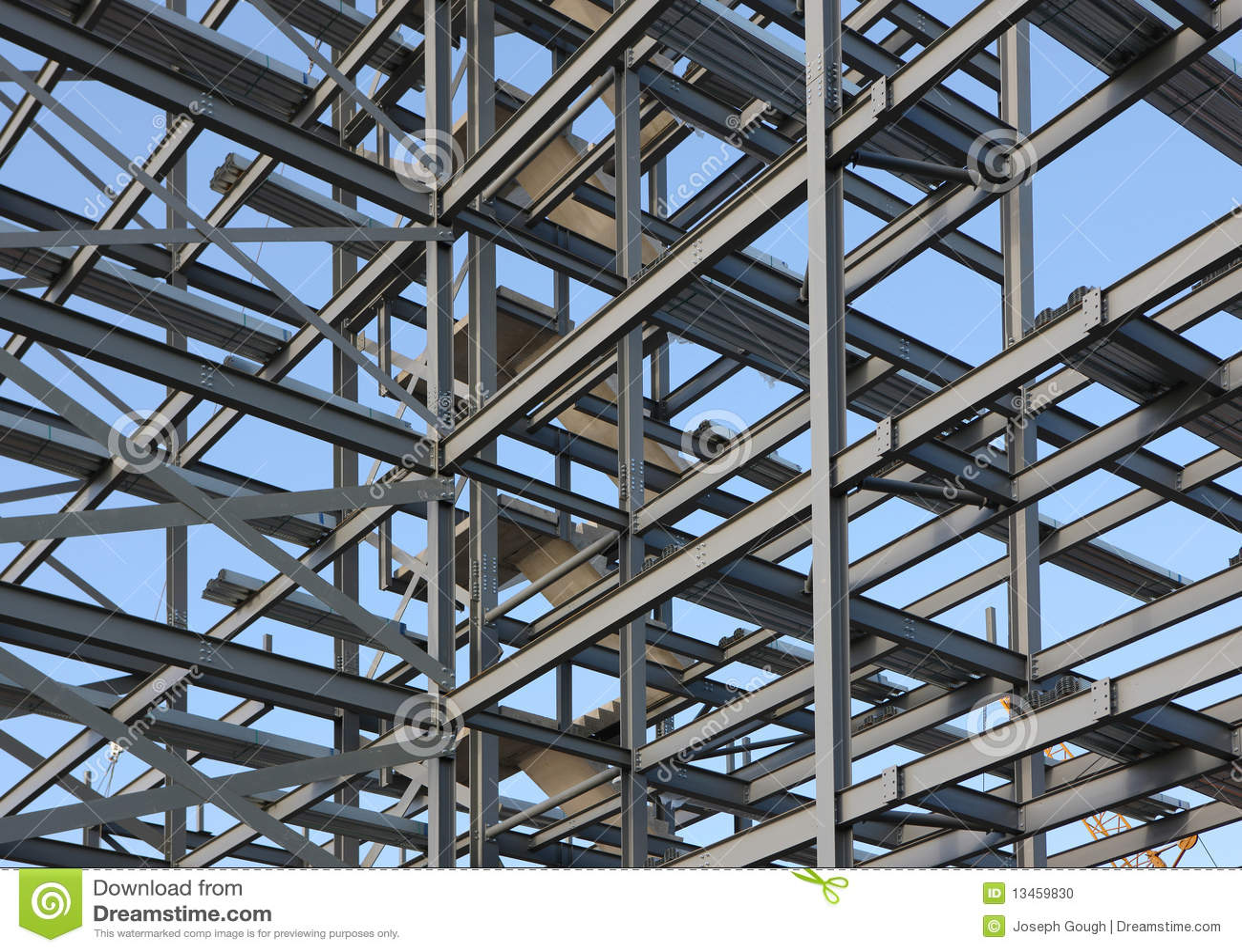 Marco de acero estructural foto de archivo. Imagen de outdoors ...