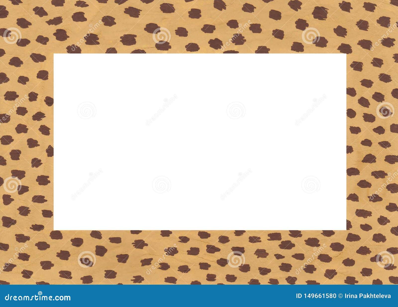 Marco de acr?lico exhausto de la mano con los puntos del guepardo