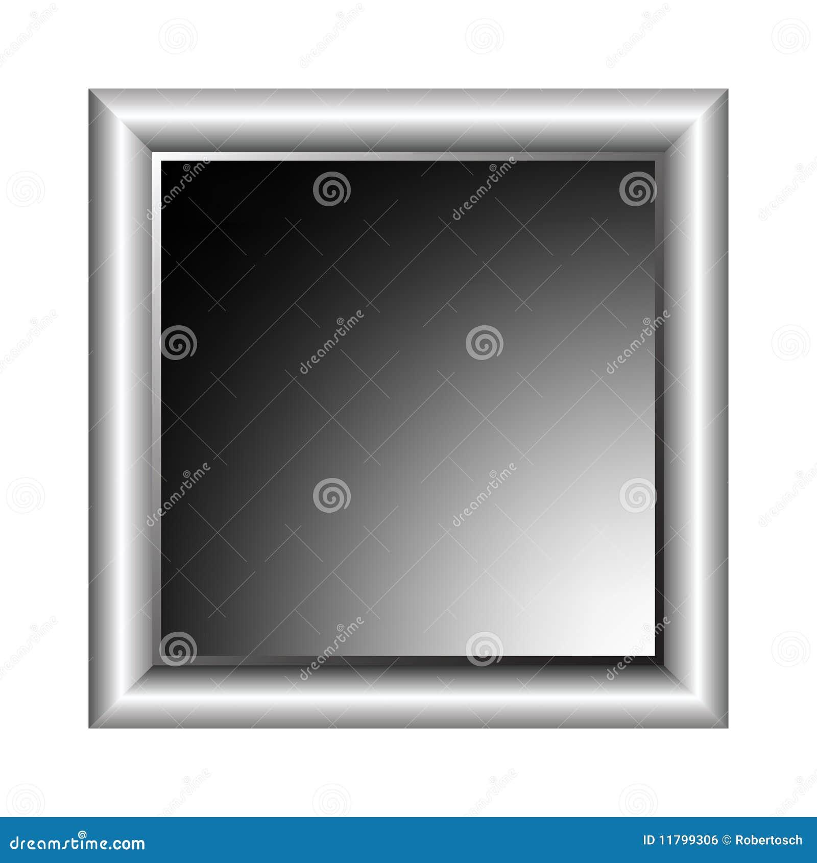 Marco De Aluminio De La Foto Ilustración del Vector - Ilustración de ...