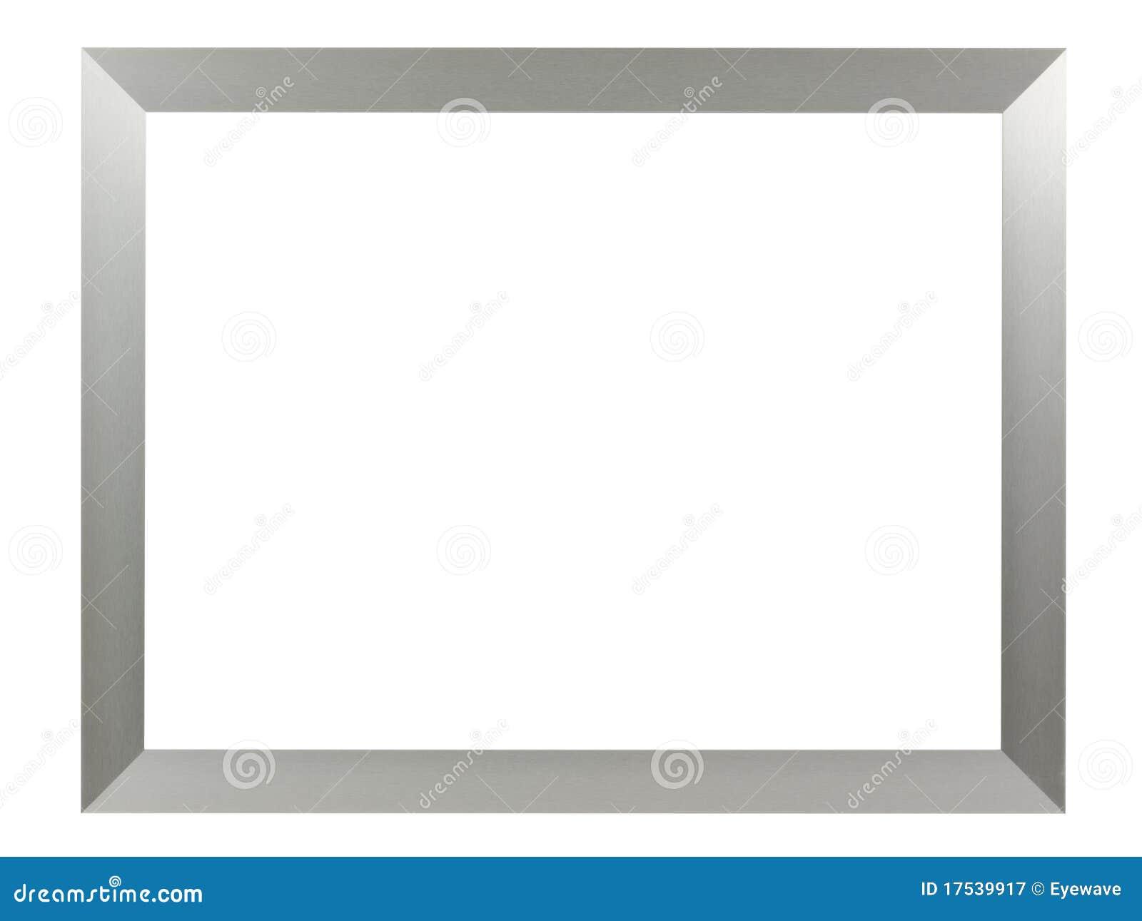 Marco de aluminio de plata imagen de archivo. Imagen de marco - 17539917