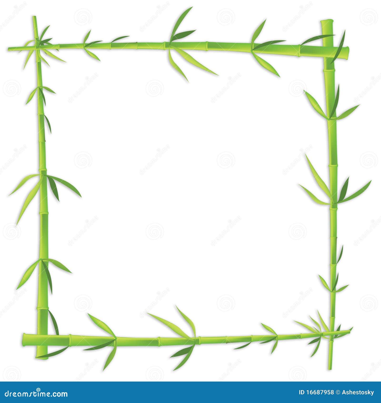Marco de bamb de la foto en espacio en blanco ilustraci n - Marcos para fotos economicos ...