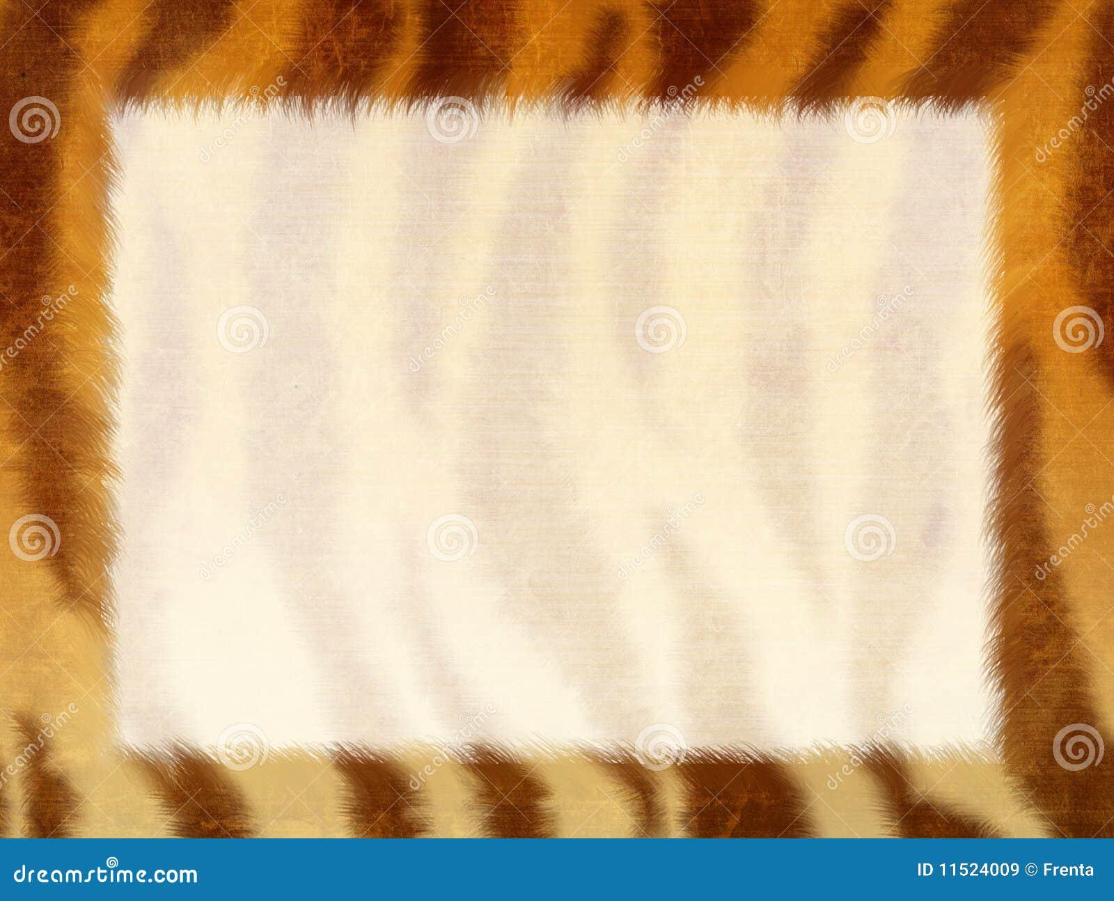 Marco De Grunge - Piel De Un Tigre Imagen de archivo - Imagen de ...