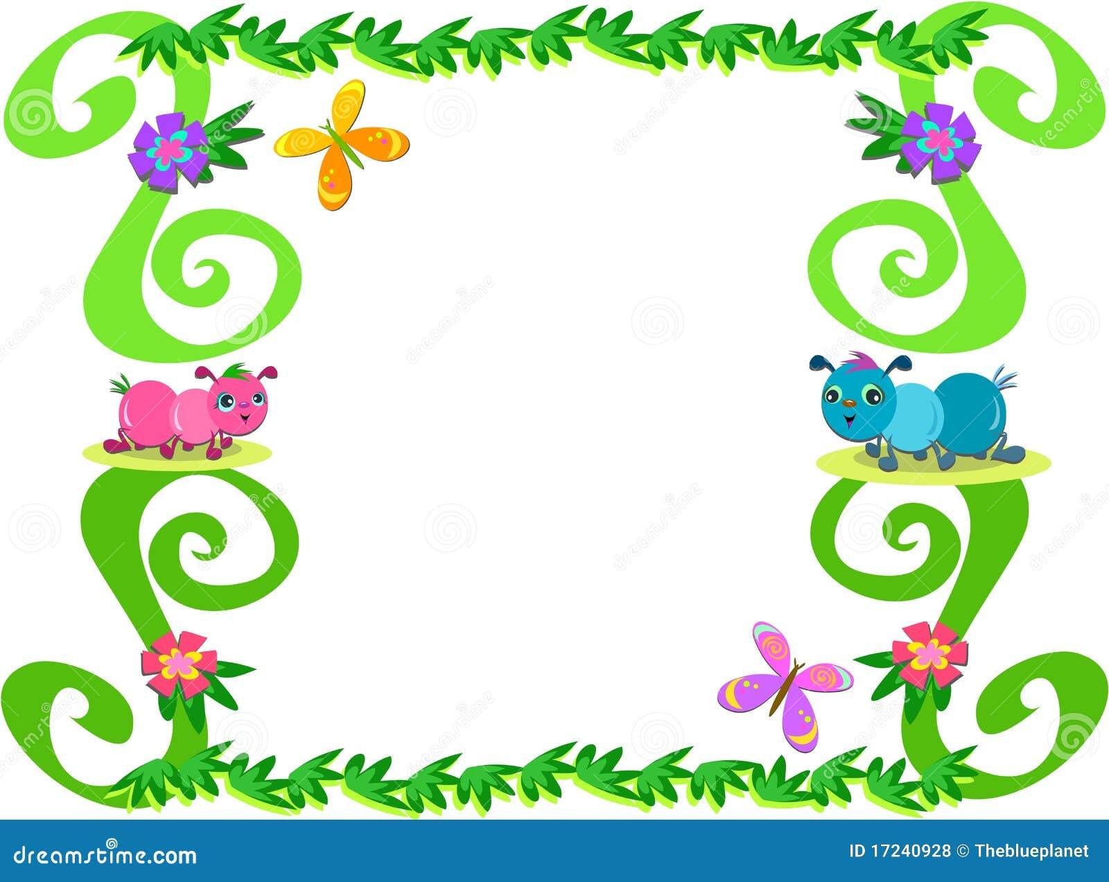 Marco de hormigas de plantas y de mariposas fotos de - Marcos para plantas ...