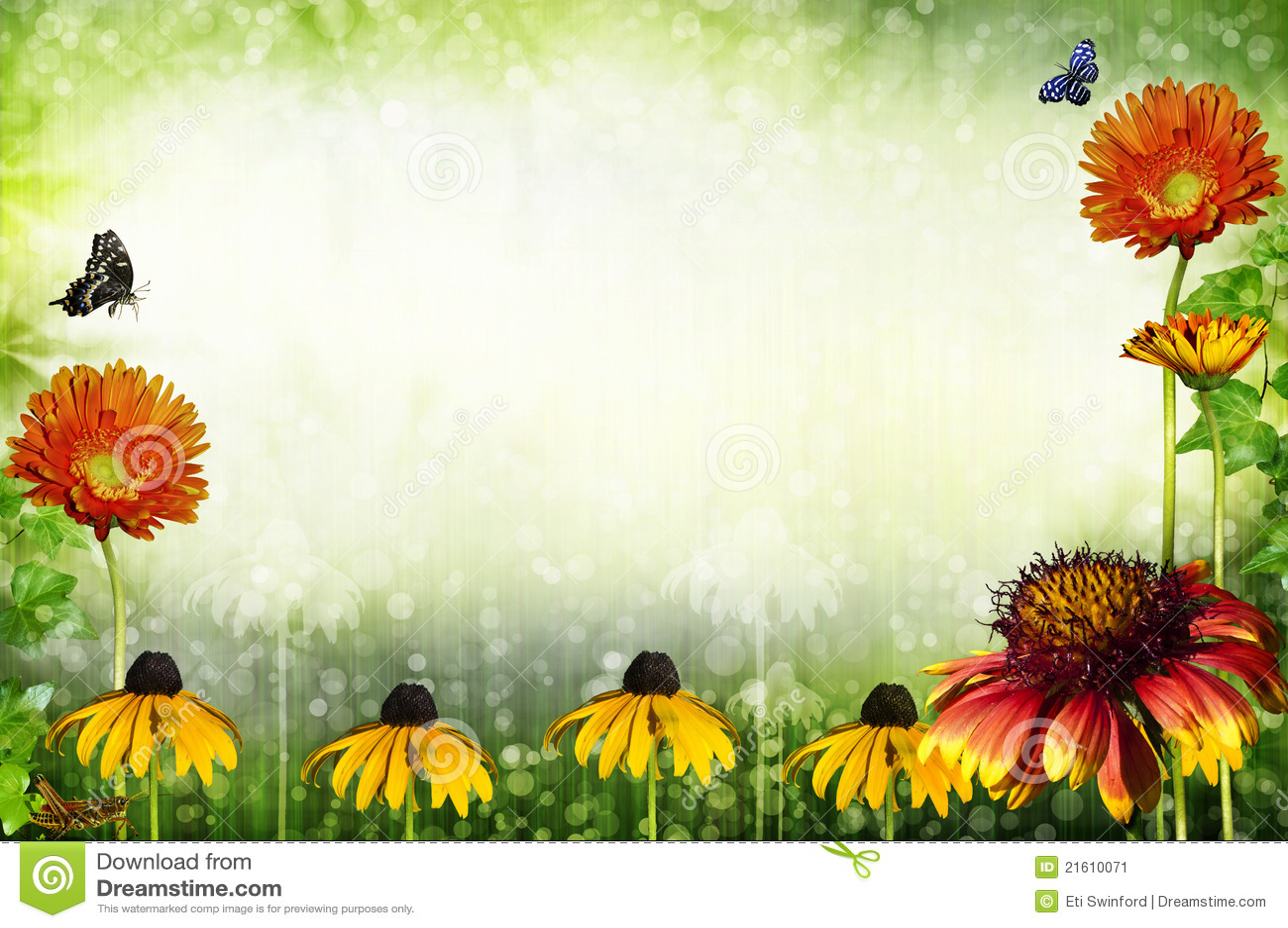 Marco de jardín stock de ilustración. Ilustración de jardín - 21610071
