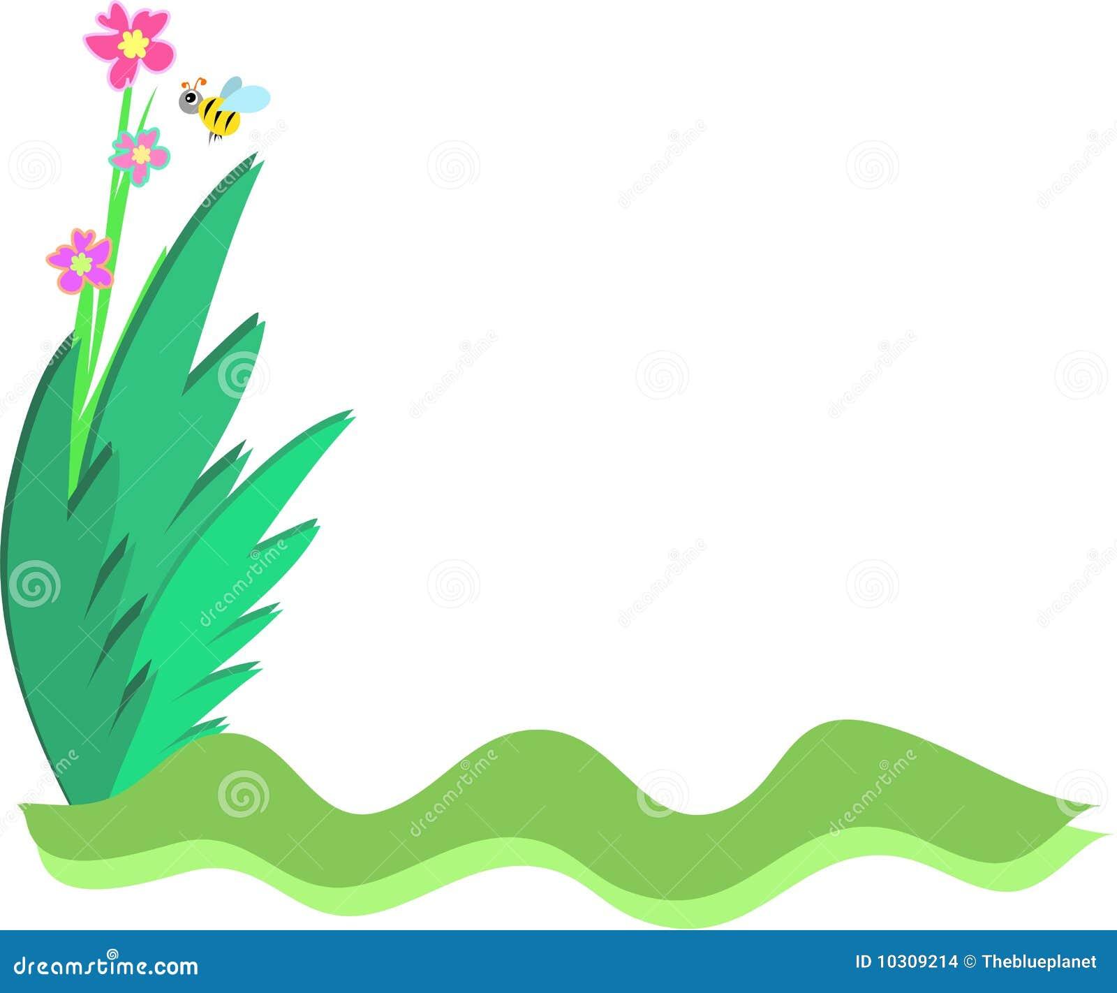 Marco de la abeja y de plantas imagenes de archivo - Marcos para plantas ...
