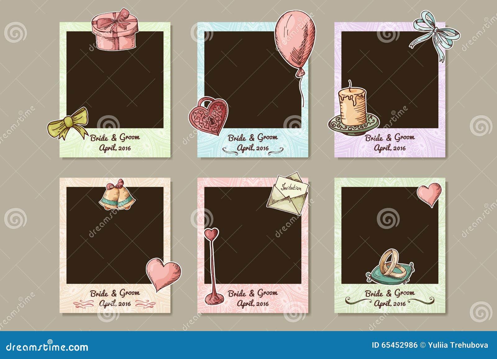 Marco de la boda del dise o marcos decorativos de la foto - Diseno de fotos ...