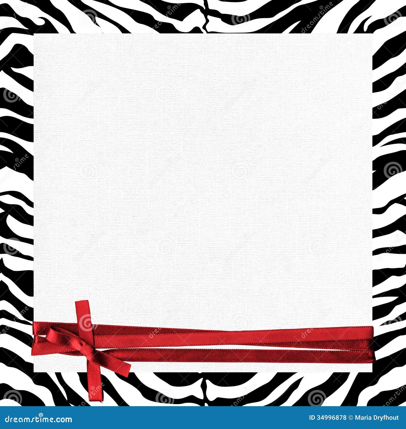 Marco De La Cebra Con La Cinta Roja Stock de ilustración ...