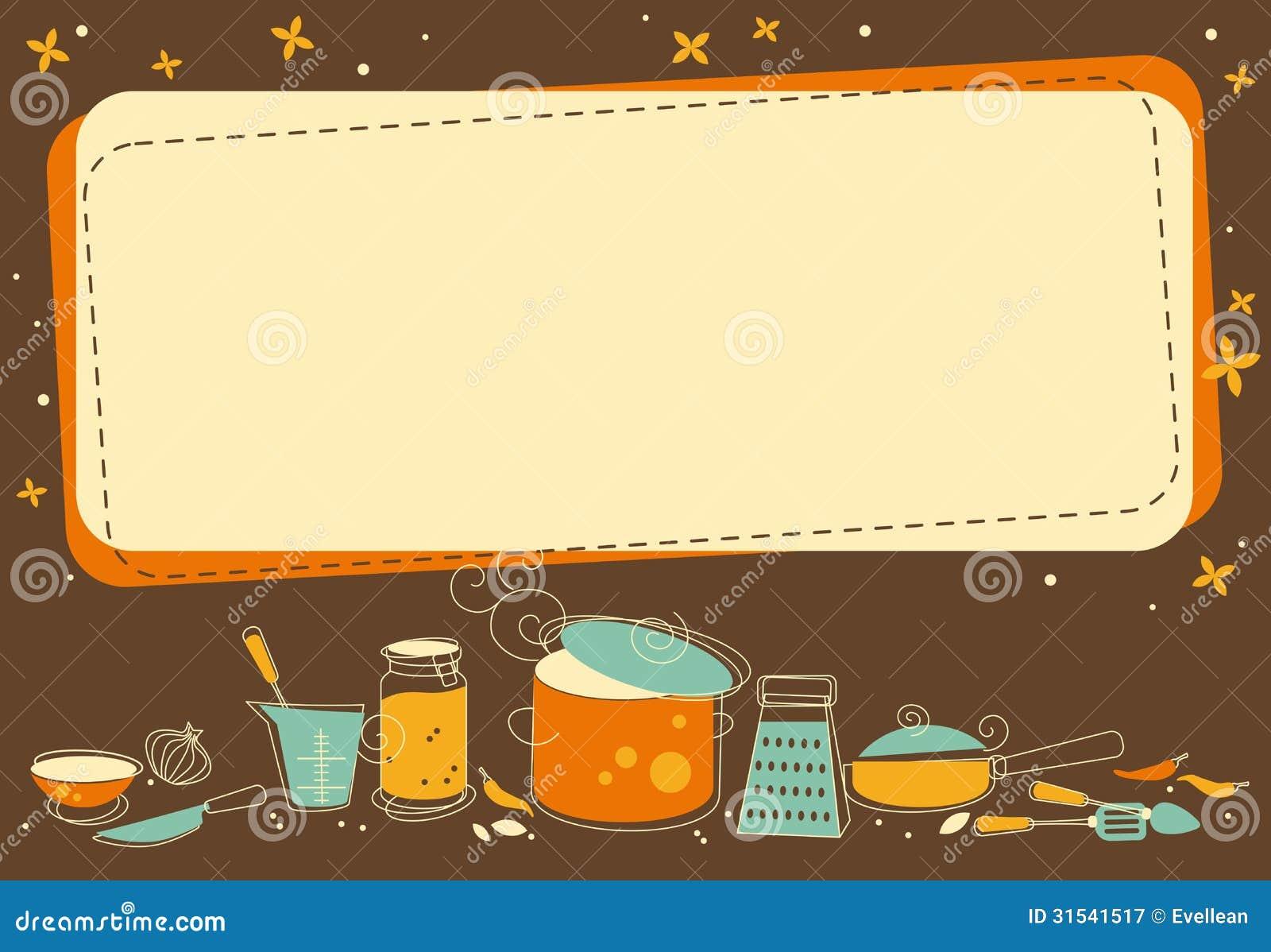 Marco de la cocina ilustraci n del vector ilustraci n de - Fotos de comodas ...